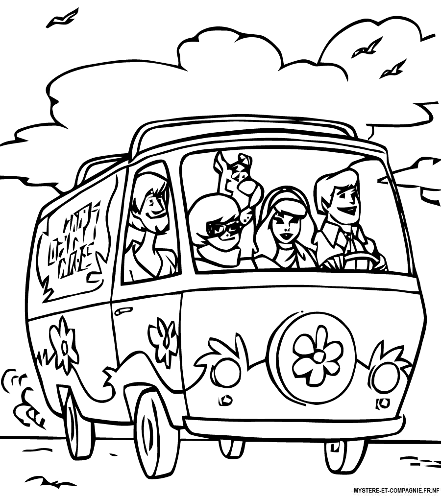 Scooby Doo #318 (Dessins Animés) – Coloriages À Imprimer à Scooby Doo À Colorier