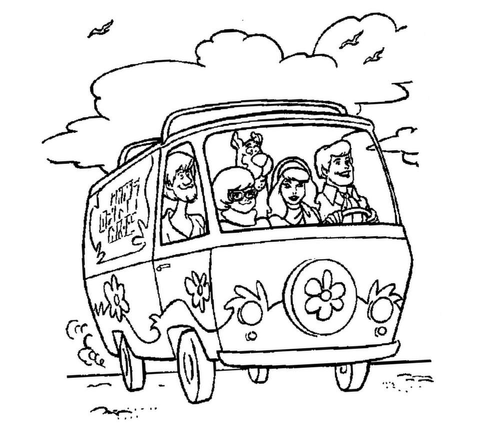 Scooby Doo To Download - Scooby Doo Kids Coloring Pages encequiconcerne Scooby Doo À Colorier