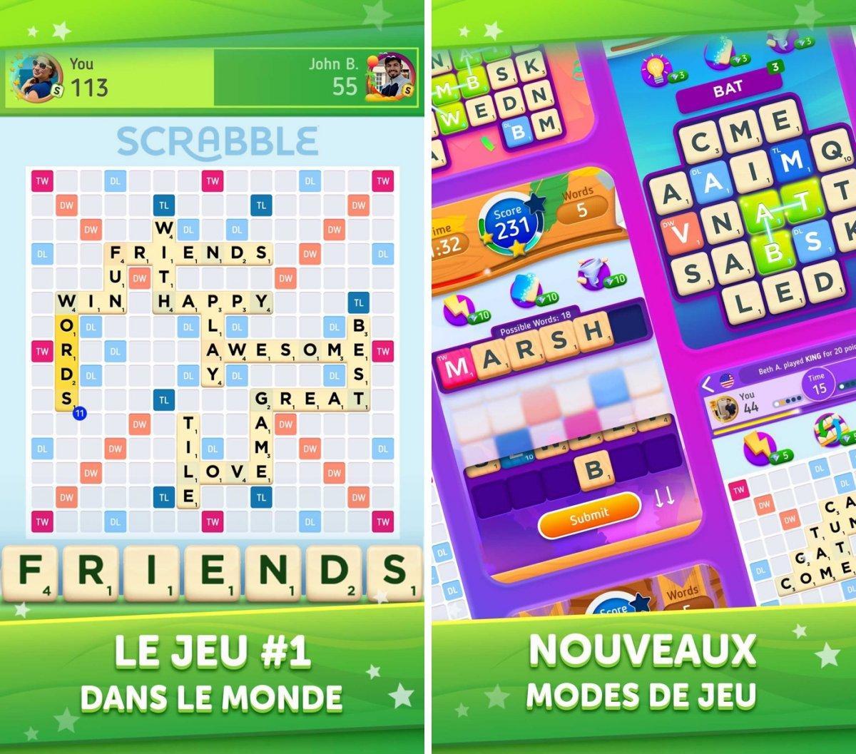 Scrabble Go : Le Célèbre Jeu De Mots S'invite Sur L'app destiné Jeux Gratuit De Mots