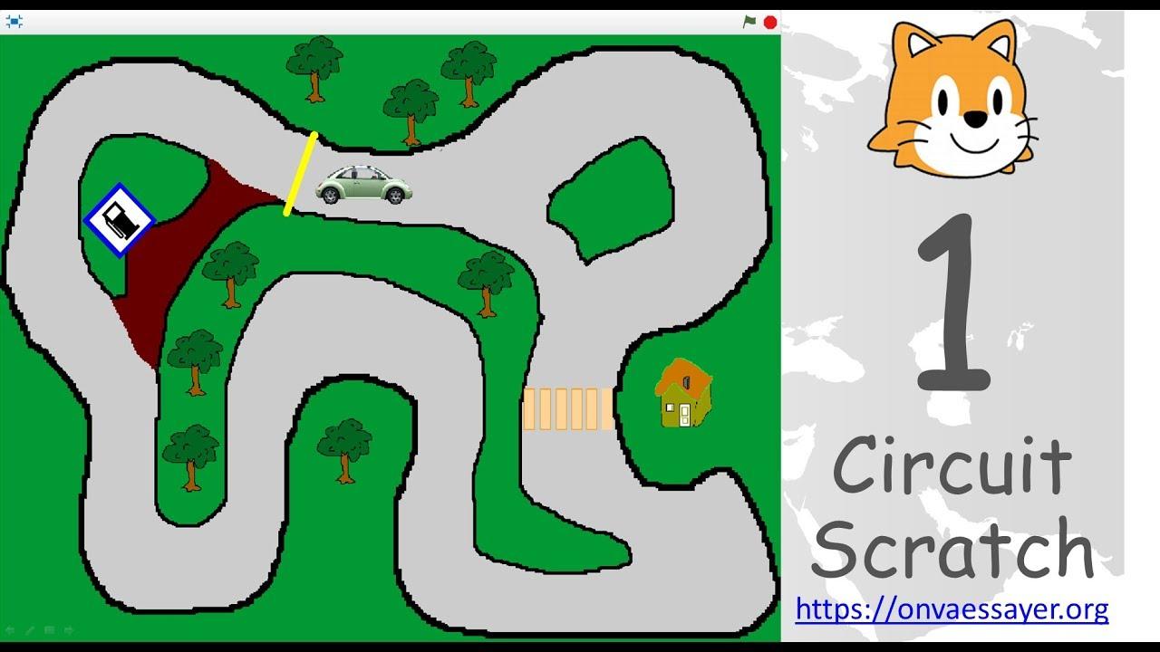 Scratch : Circuit De Voiture (Tuto) concernant Jeux De Parcours De Voiture