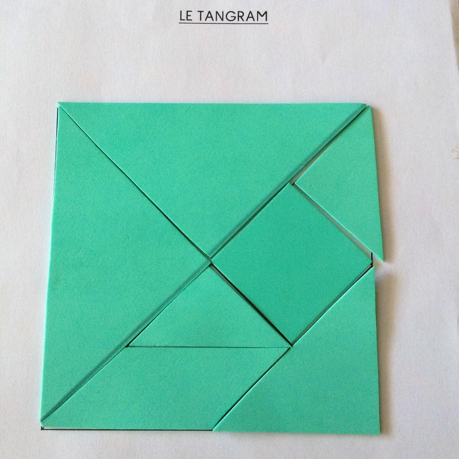 Séance Découverte Du Tangram (Avec Les Enfants De Maternelle tout Tangram Carré
