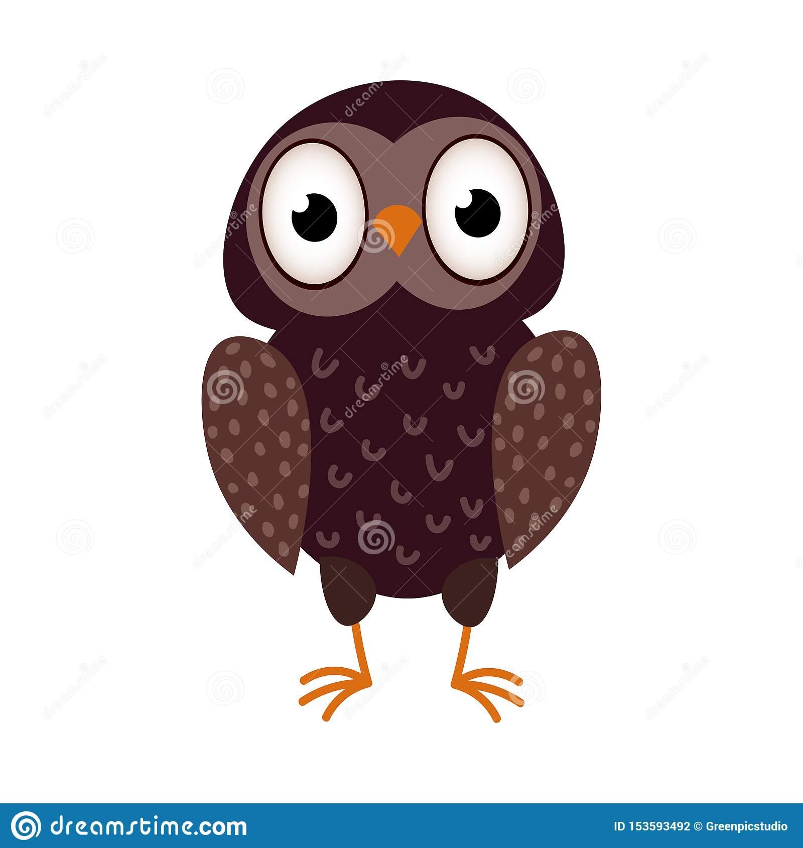 Séjour Brun Mignon D'oiseau De Hibou D'enfant De Couleur Sur concernant Hibou Dessin Couleur