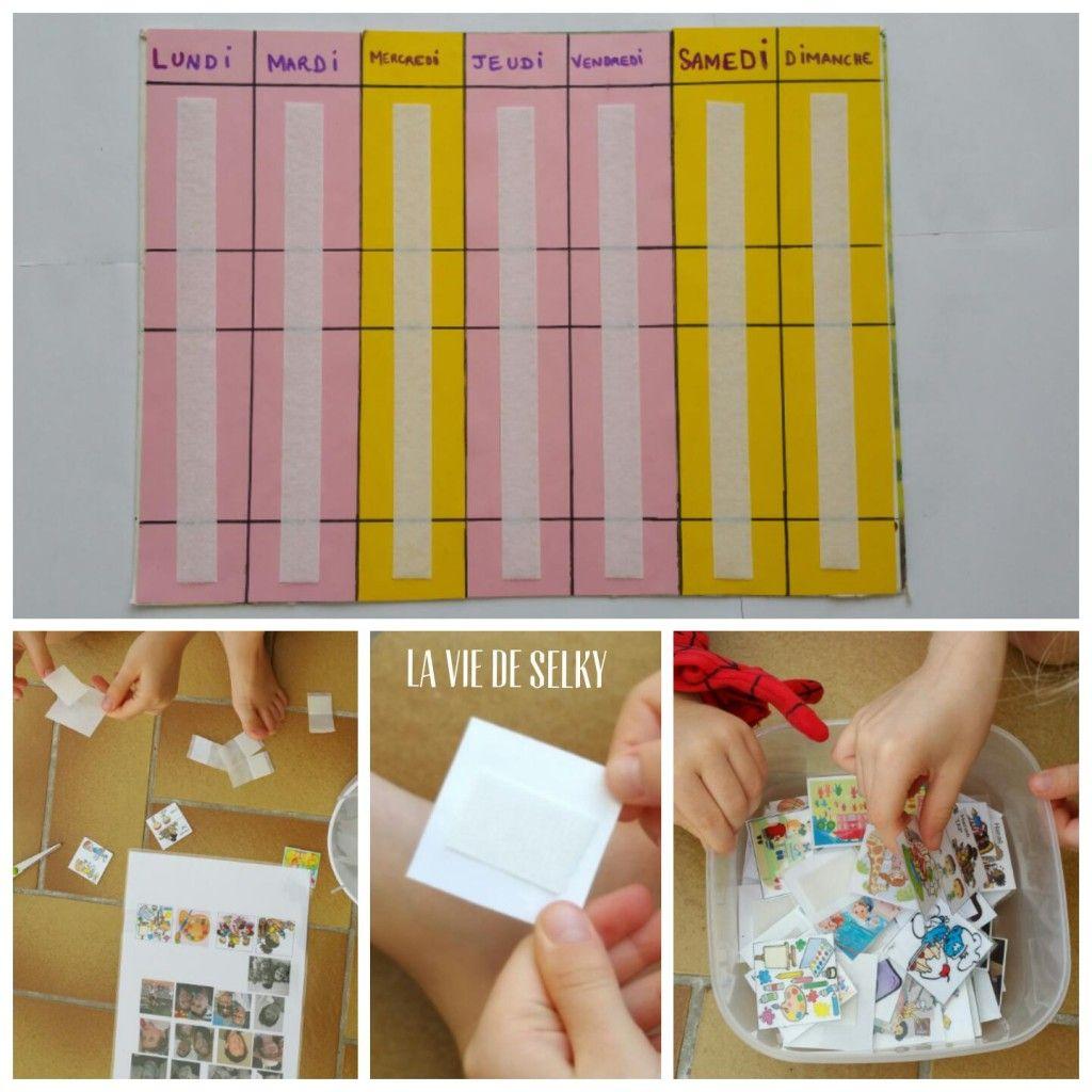 Selky Fabrique Du Calendrier Pour Enfant #diy - La Vie De pour Calendrier Enfant Semaine