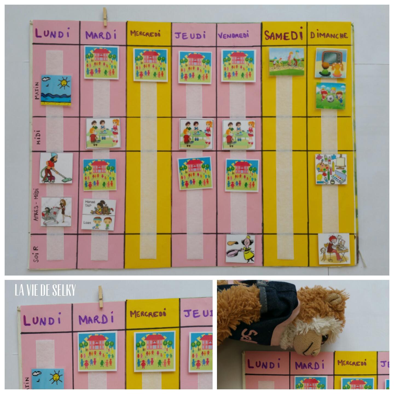 Selky Fabrique Du Calendrier Pour Enfant #diy - La Vie De Selky à Calendrier Enfant Semaine