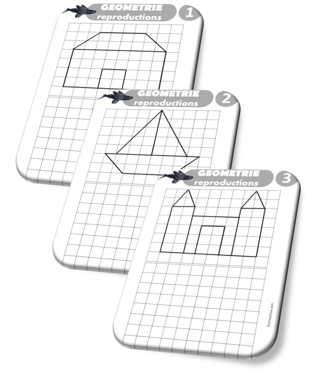 Séquence Géométrie : Repérage Et Orientation Dans L'espace dedans Reproduction Sur Quadrillage Ce2