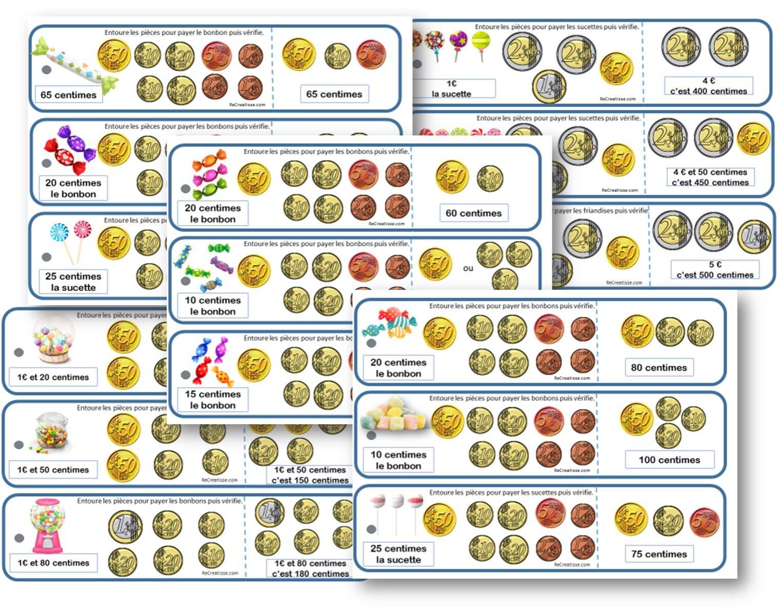 Sequence Monnaie : Ateliers - Exercices - Mémos | Jeux tout Pièces Et Billets En Euros À Imprimer