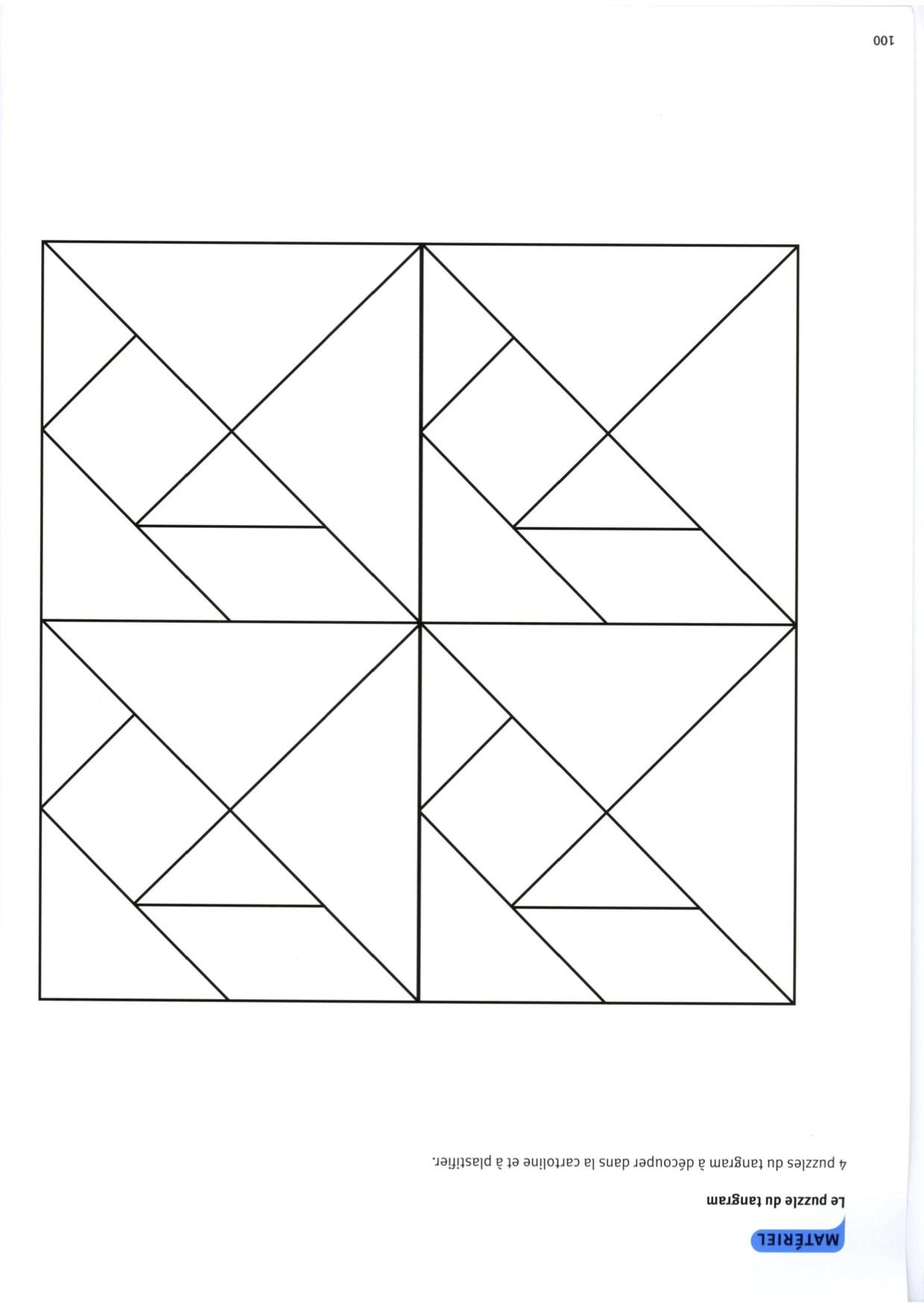 Séquence Sur Les Tangram Gs - La Classe De Luccia ! dedans Modèle Tangram À Imprimer