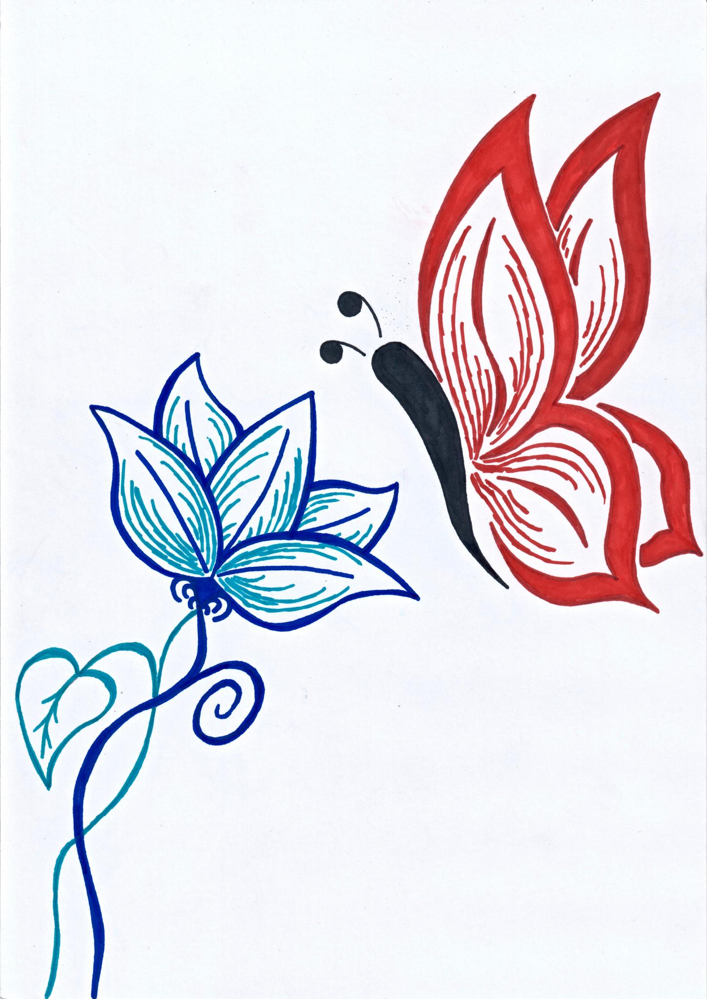 Session Dessin : Le Papillon D'art Au Japon (Jour Des 4 Ans destiné Papillon À Dessiner