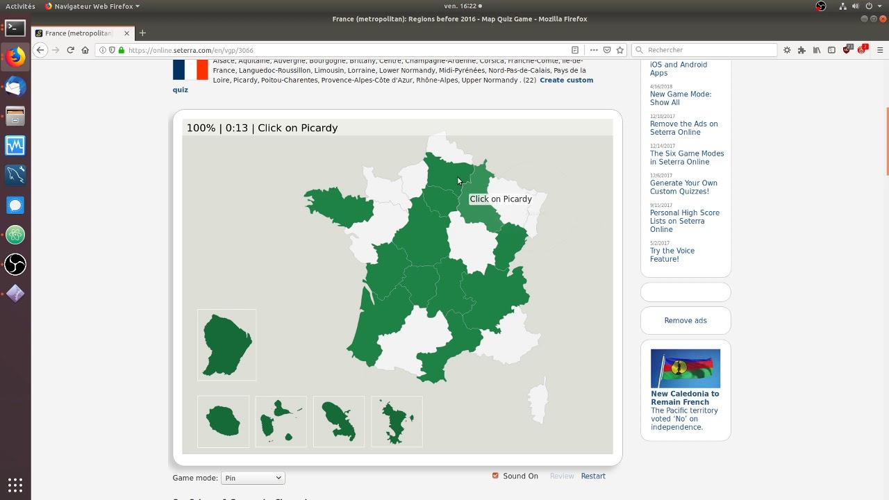 Seterra - France (Metropolitan): Regions Before 2016 - 25S intérieur Quiz Régions De France