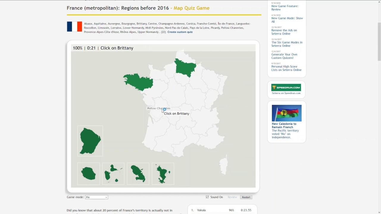 Settera - France (Metropolitan): Regions Before 2016 - Pin - 21S dedans Quiz Régions De France