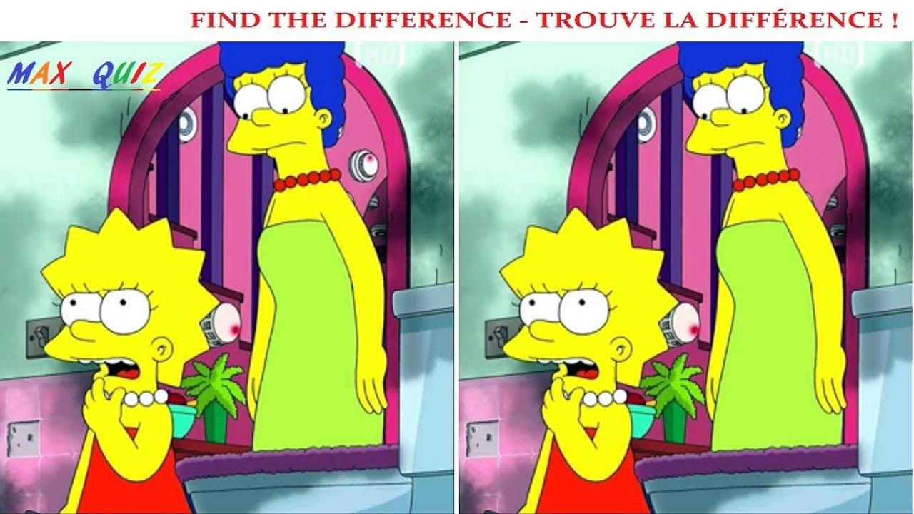 Seulement 1% Des Gens Peuvent Trouver La Différence En 30 S Les Simpson concernant Trouver La Différence