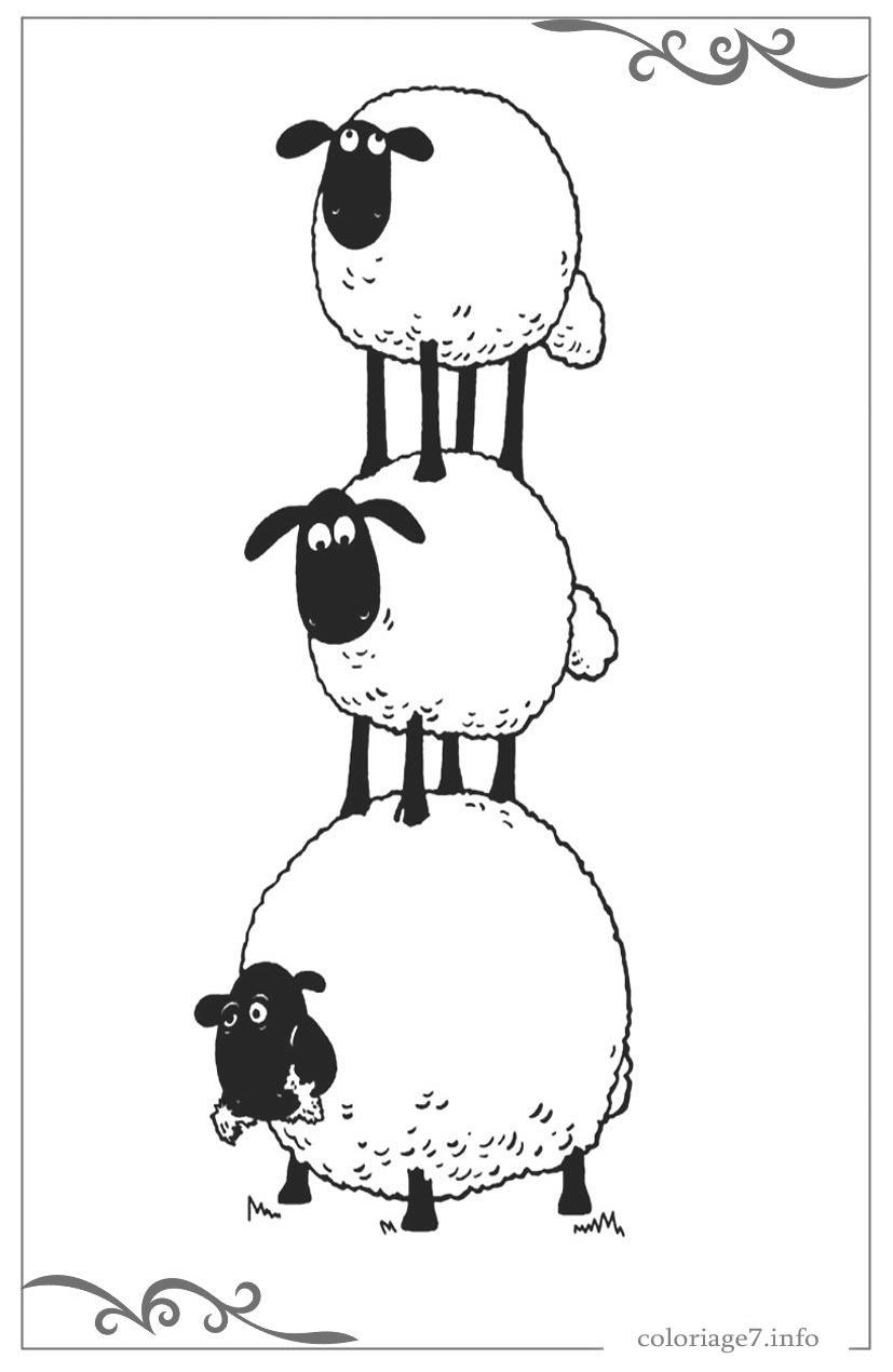 Shaun Le Mouton Jeux De Coloriage En Ligne à Photo De Mouton A Imprimer