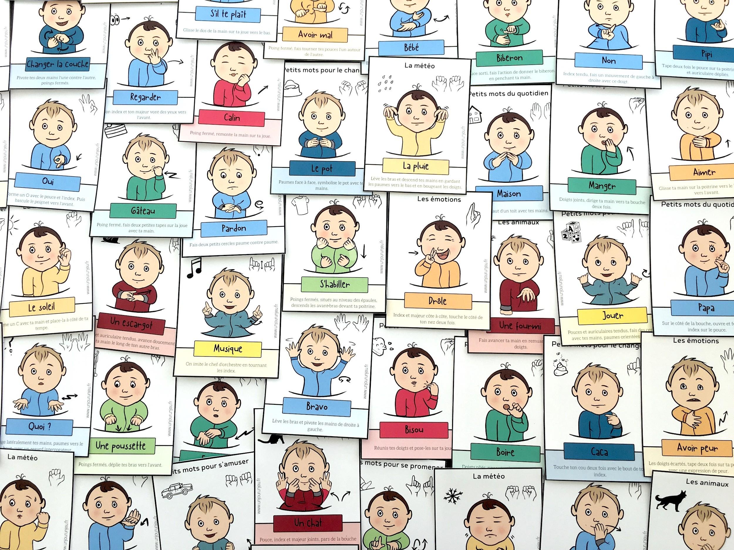 Signer Avec Son Bébé : 52 Cartes À Télécharger Gratuitement dedans Apprendre Les Animaux Pour Bebe