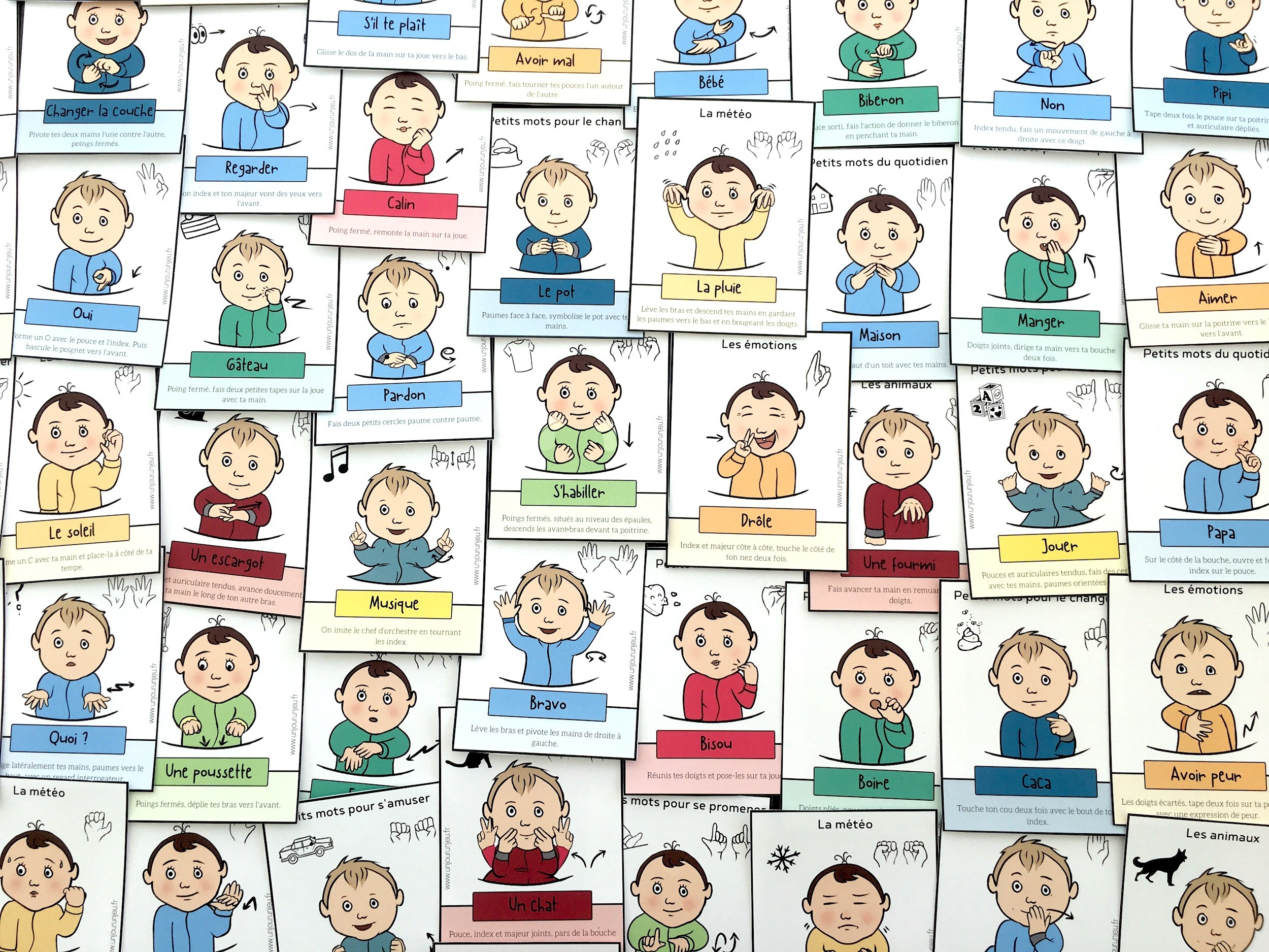 Signer Avec Son Bébé : 52 Cartes À Télécharger Gratuitement destiné Jeu Pour Bebe 2 Ans Gratuit