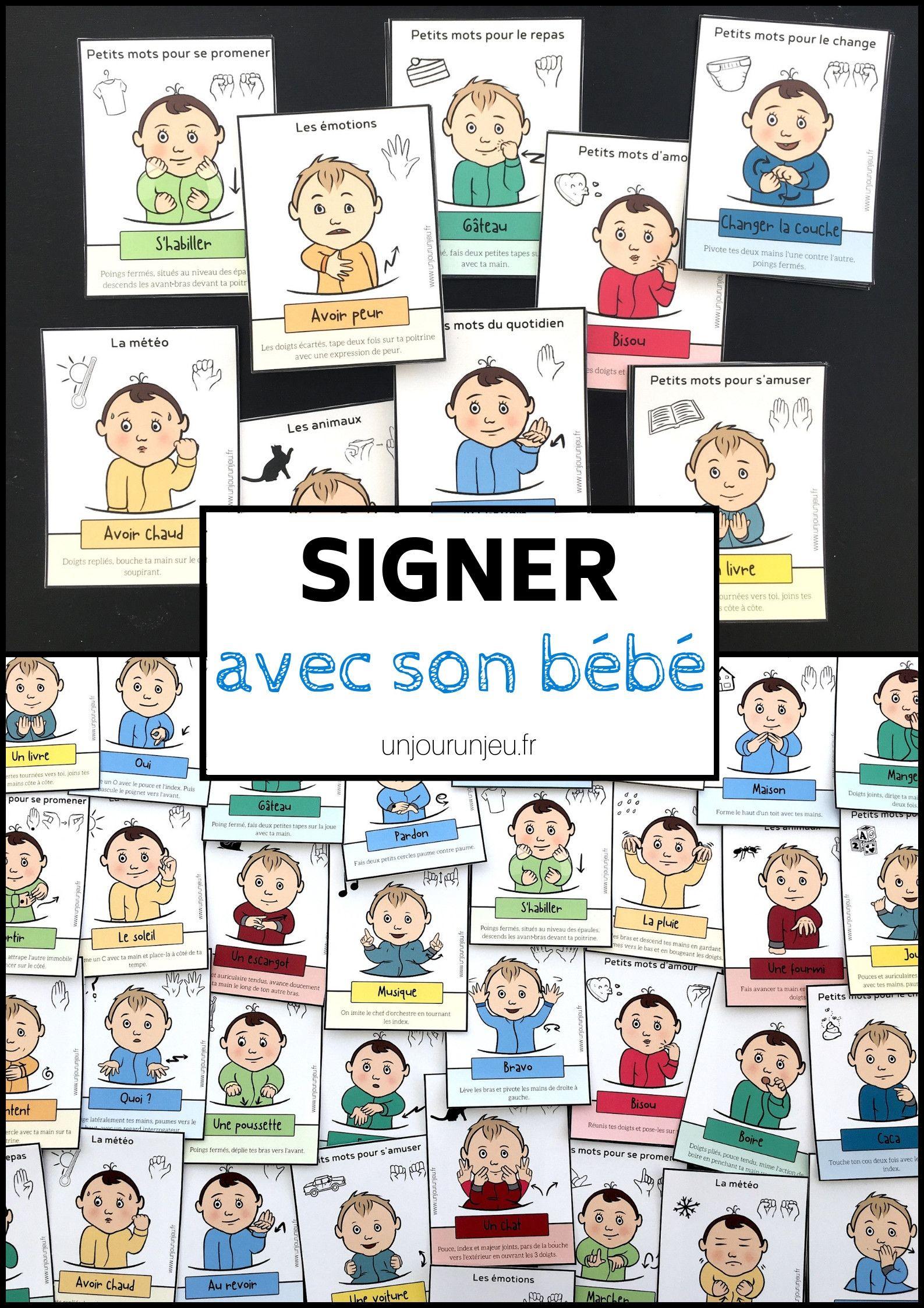 Signer Avec Son Bébé : 52 Cartes À Télécharger Gratuitement tout Jeux Bébé 2 Ans Gratuit A Telecharger