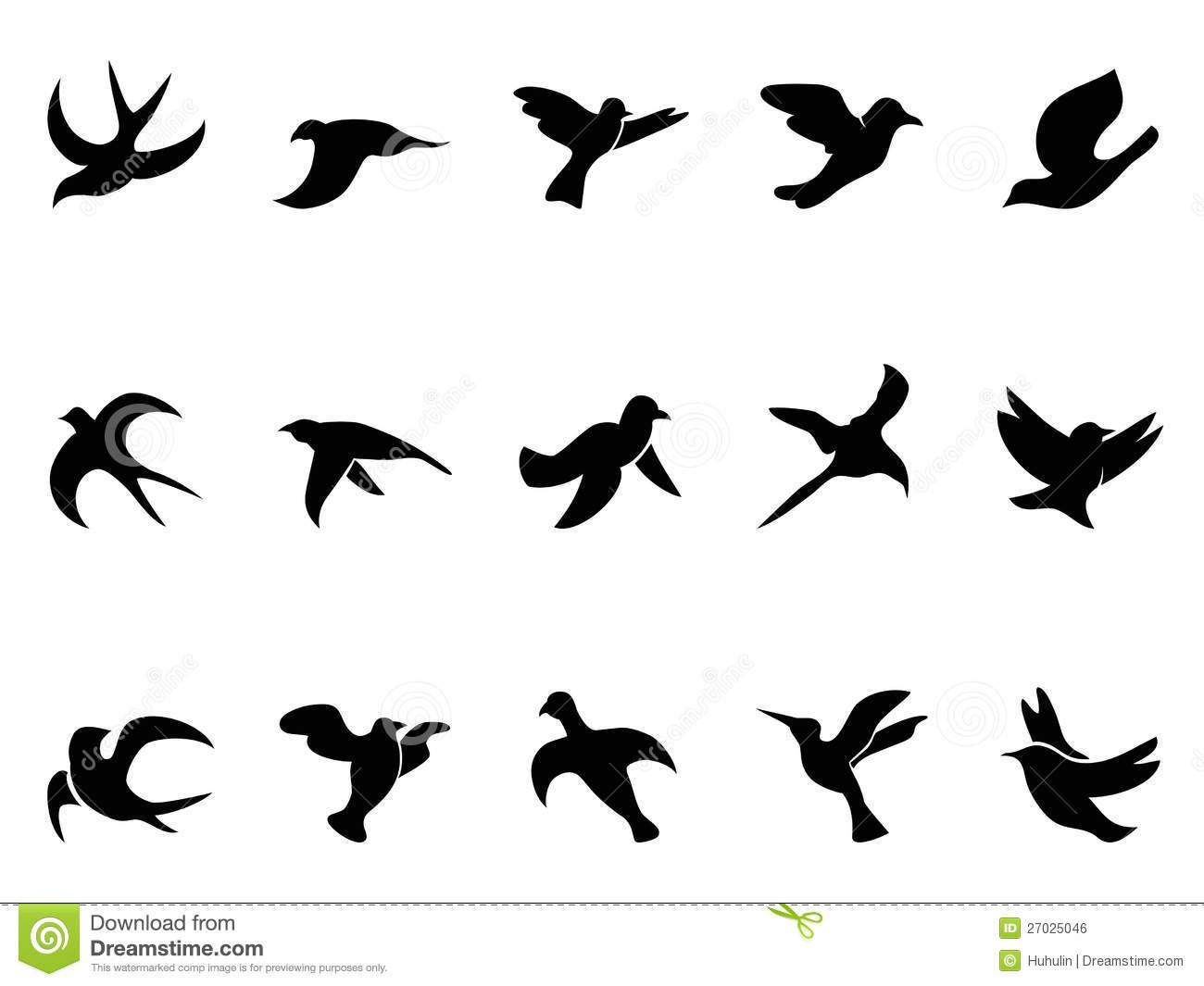 Silhouettes Du Vol De L'oiseau Simple Illustration De tout Dessin D Oiseau Simple
