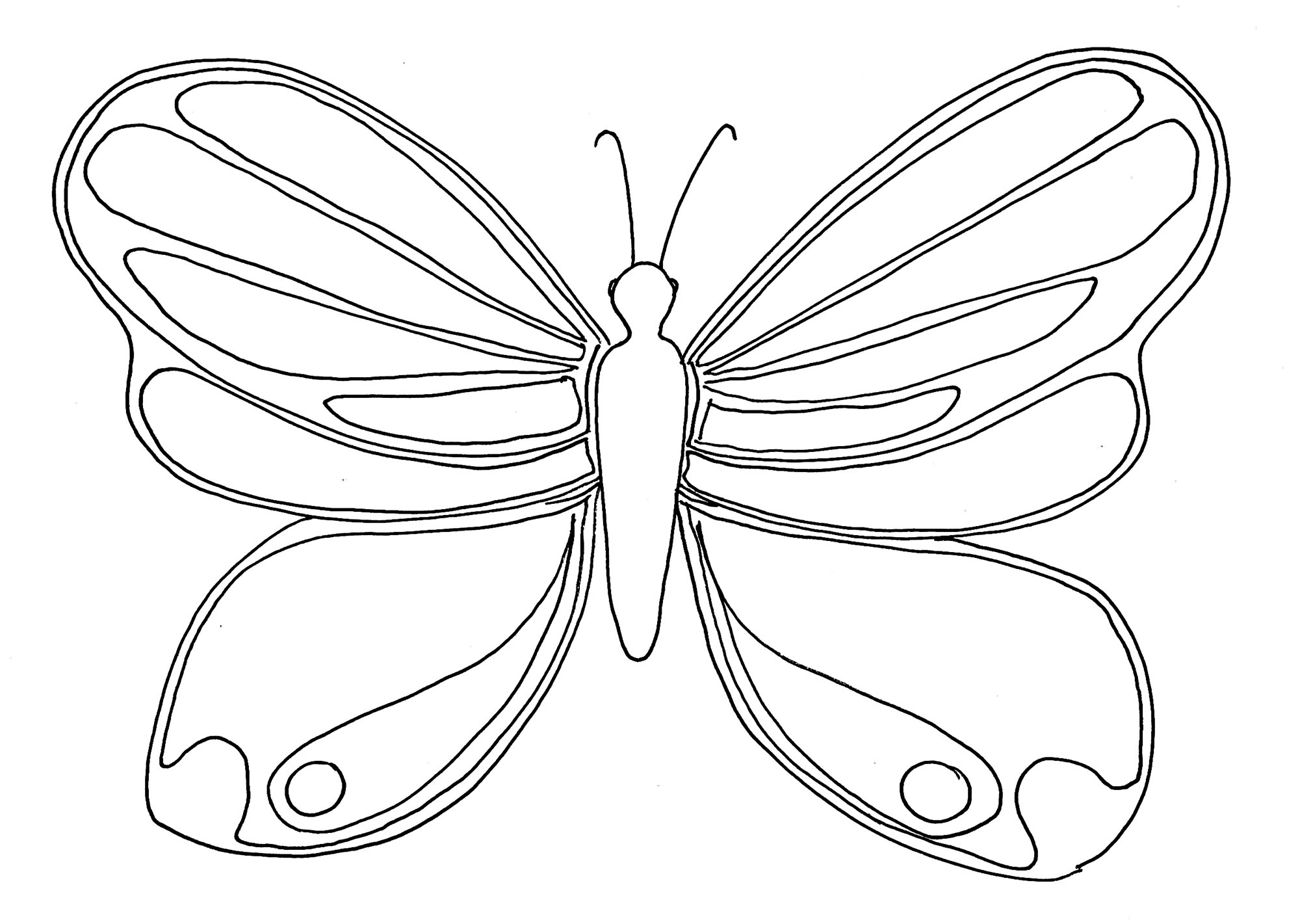 Simple Coloriage De Papillon - Coloriage De Papillons tout Dessin Papillon À Colorier