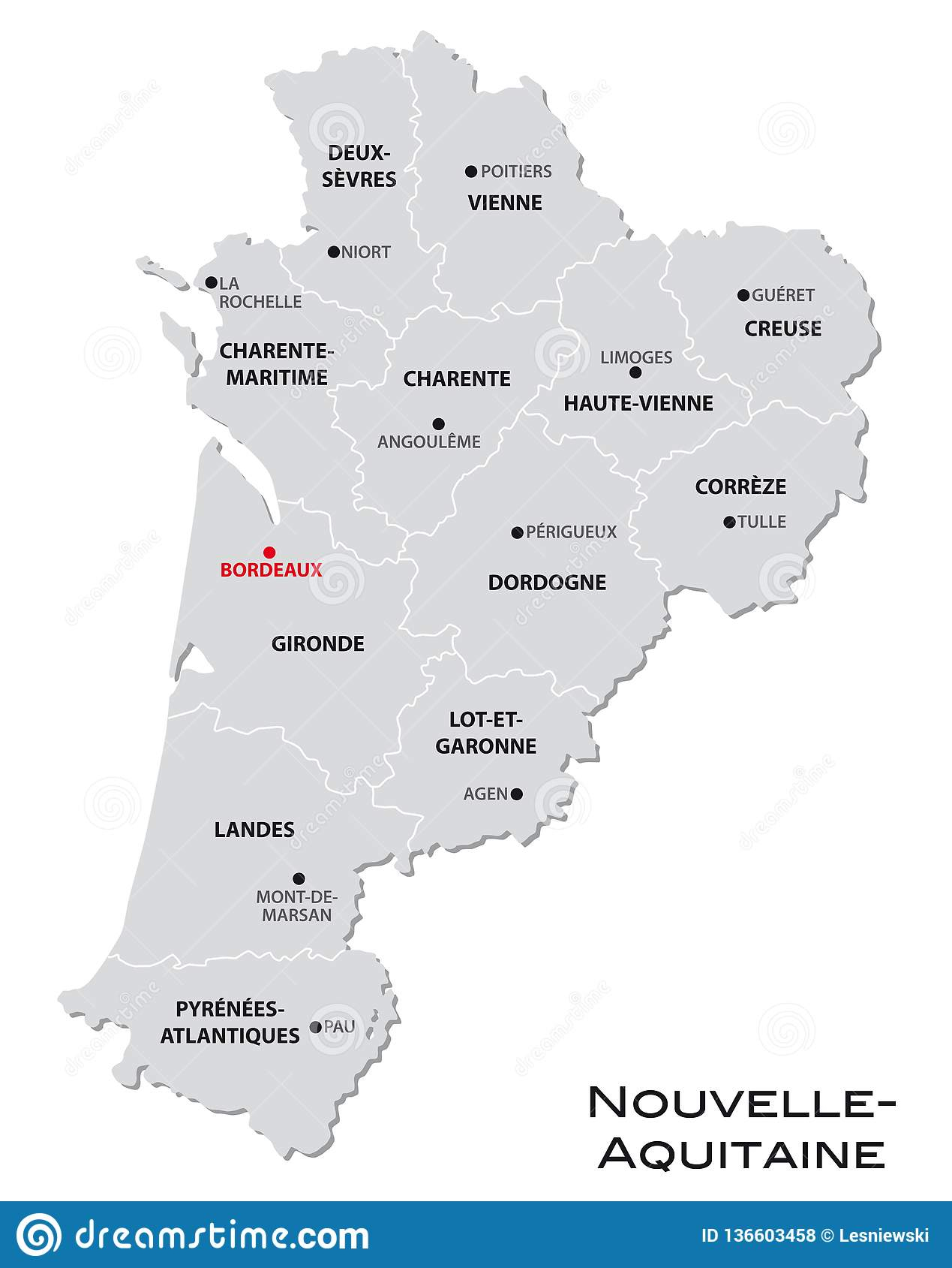 Simple Gray Administrative Map Of The New French Region encequiconcerne Nouvelle Carte Region