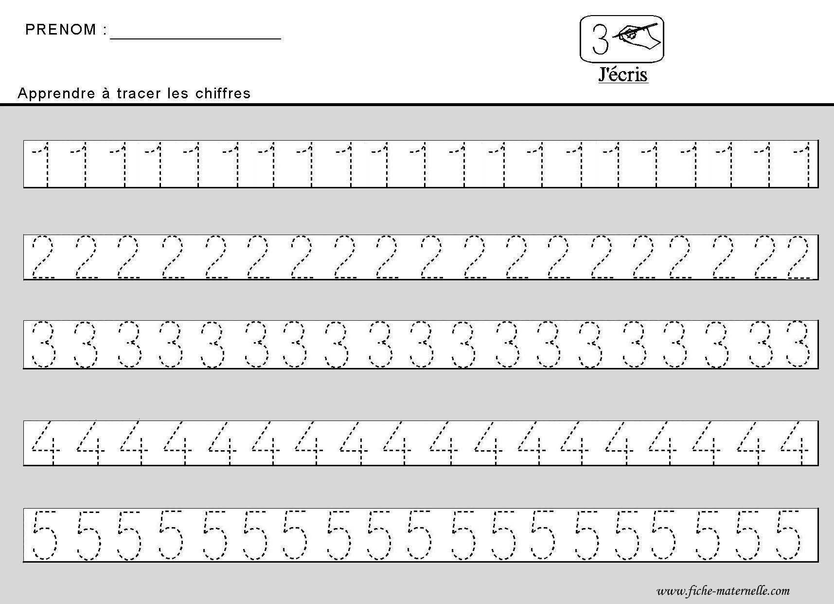 Site Maternelle : Apprendre À Tracer Des Chiffres En Moyenne concernant Apprendre À Écrire L Alphabet En Maternelle