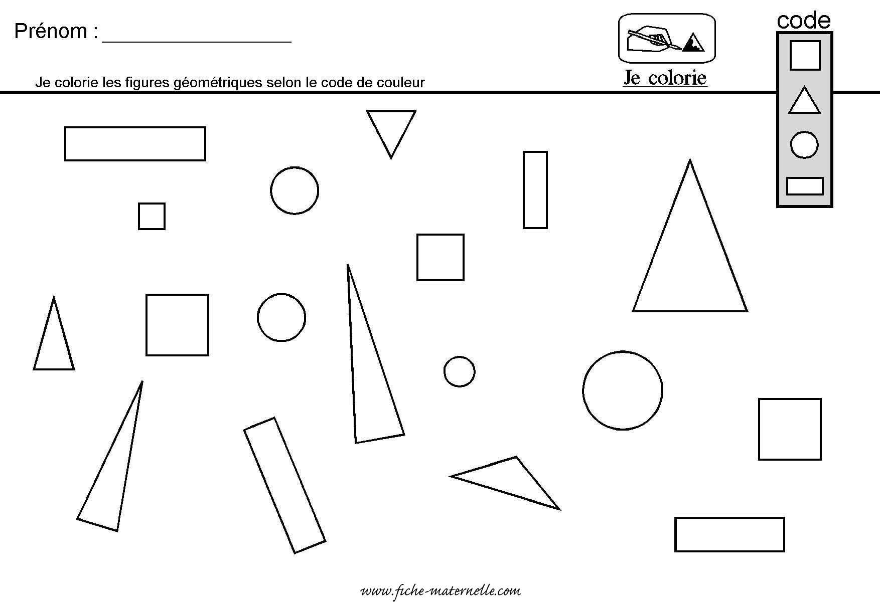 Site Maternelle : Géométrie En Grande Section Et Moyenne Section serapportantà Les Formes Geometrique