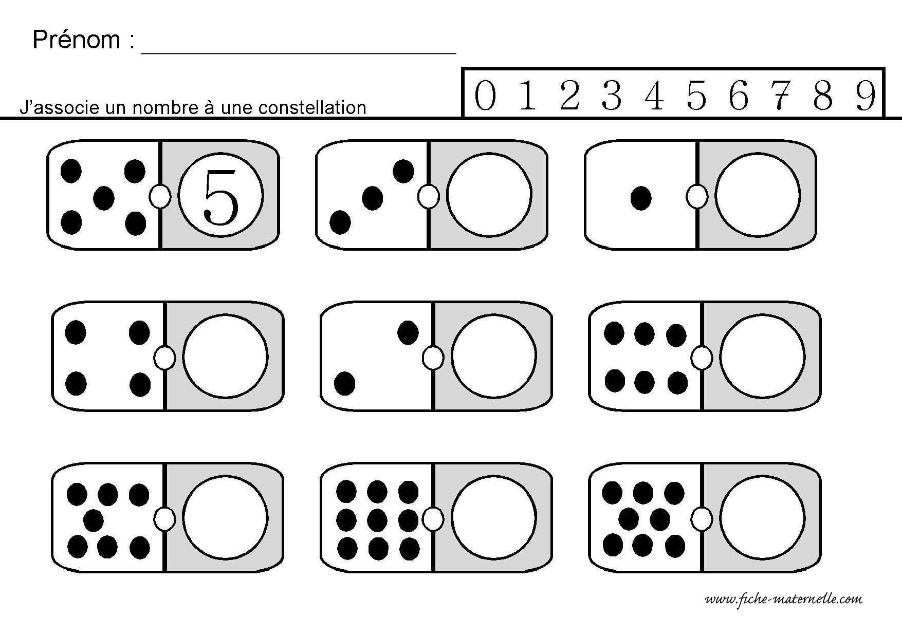 Site Maternelle : Jeu Des Dominos En Gs | Mathématiques pour Jeux Maternelle Grande Section