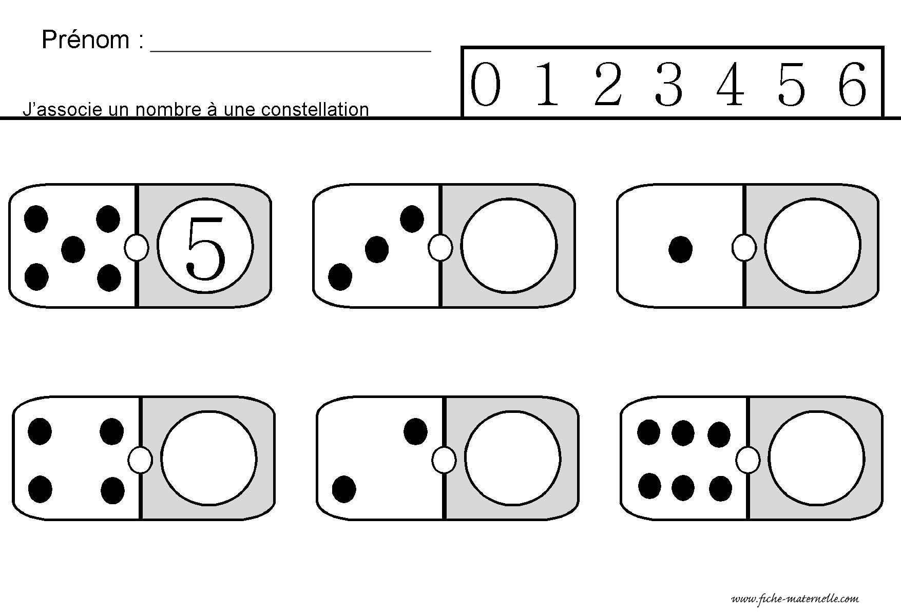 Site Maternelle : Jeu Des Dominos En Ms | Mathématiques serapportantà Jeux Maternelle Grande Section