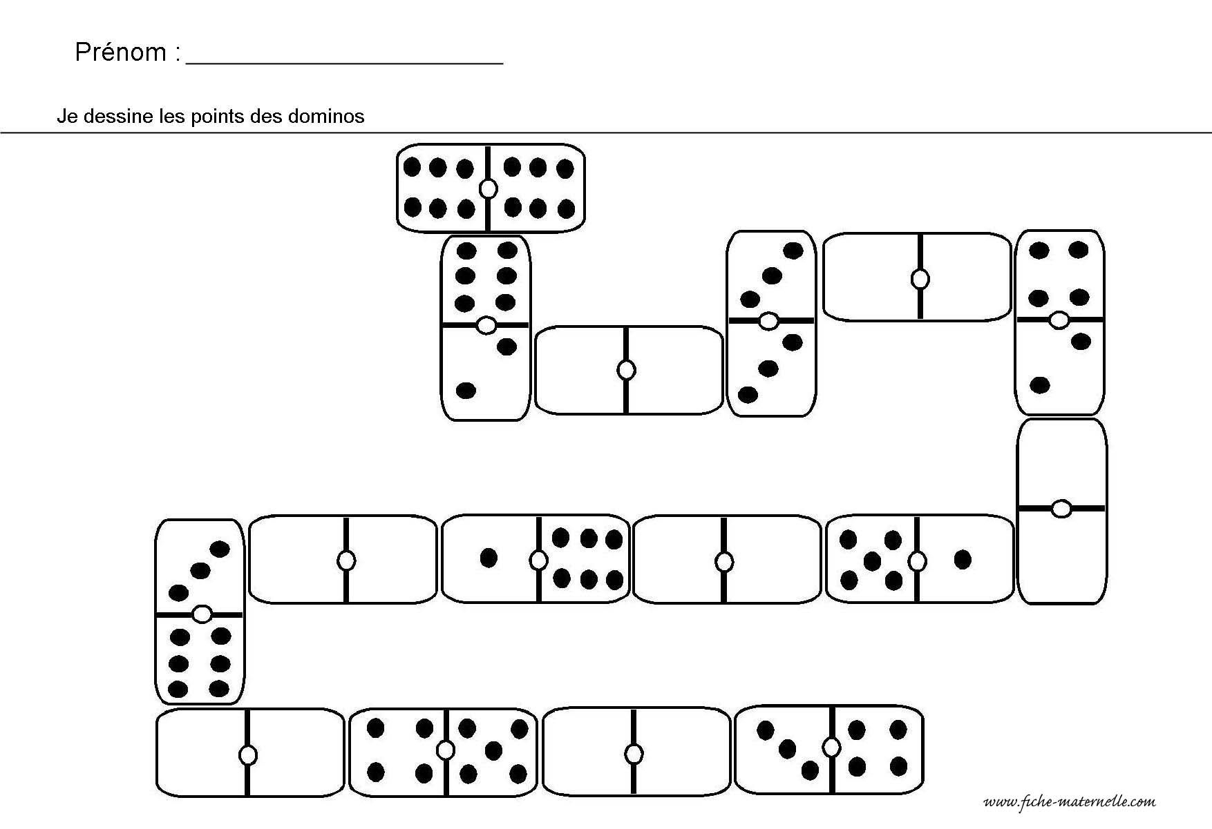 Site Maternelle : Jeu Des Dominos   Mathématiques dedans Jeux Maternelle Moyenne Section