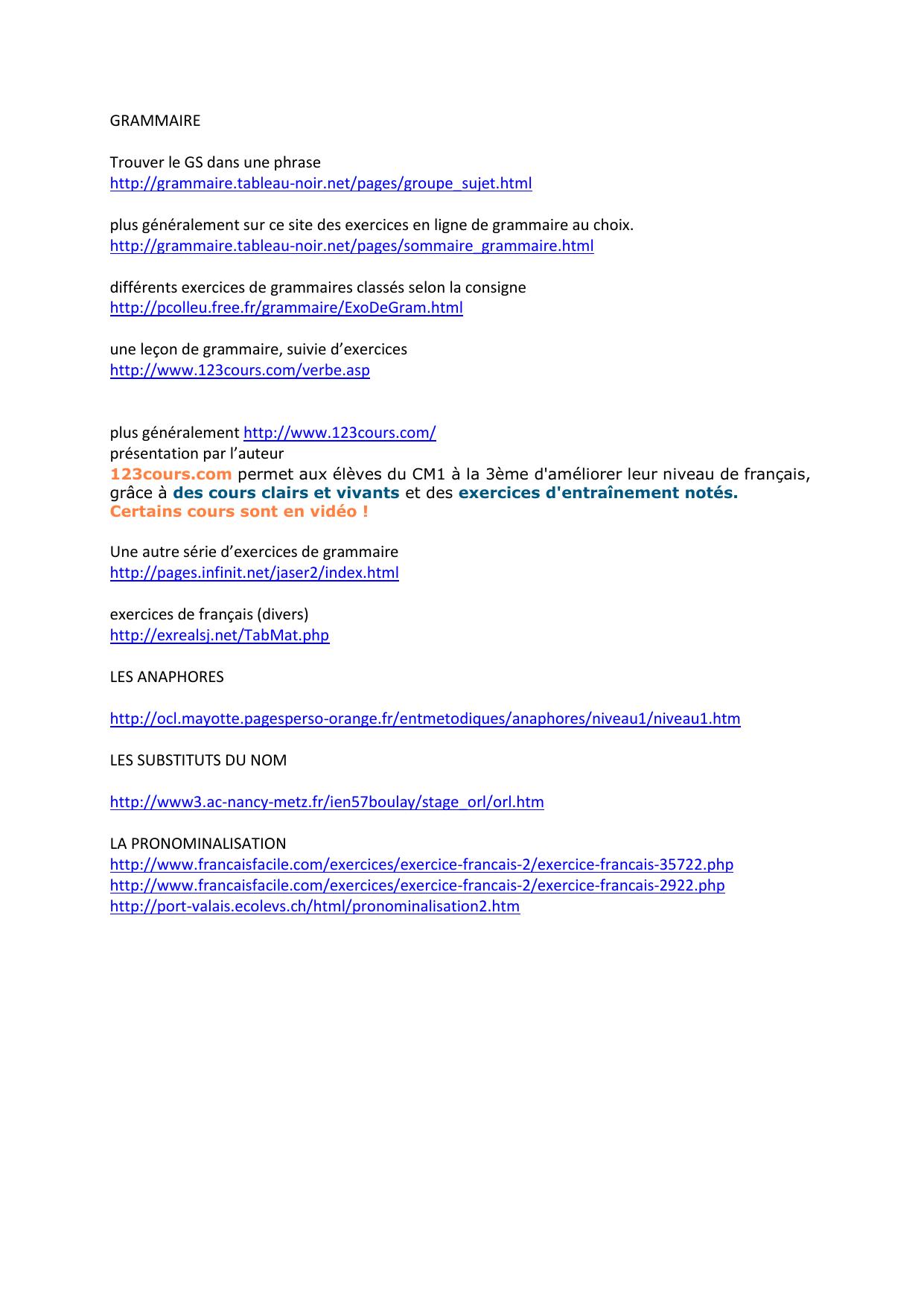 Sites De Référence intérieur Exercice Gs En Ligne