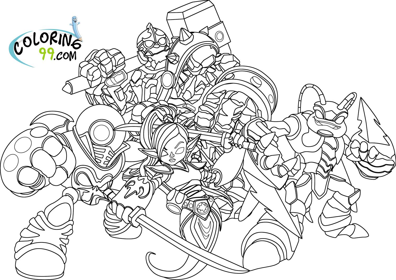 Skylanders #14 (Dessins Animés) – Coloriages À Imprimer intérieur Dessin De Skylanders