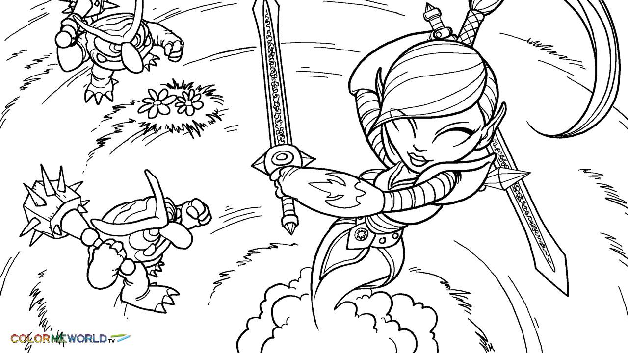 Skylanders #33 (Dessins Animés) – Coloriages À Imprimer concernant Dessin De Skylanders