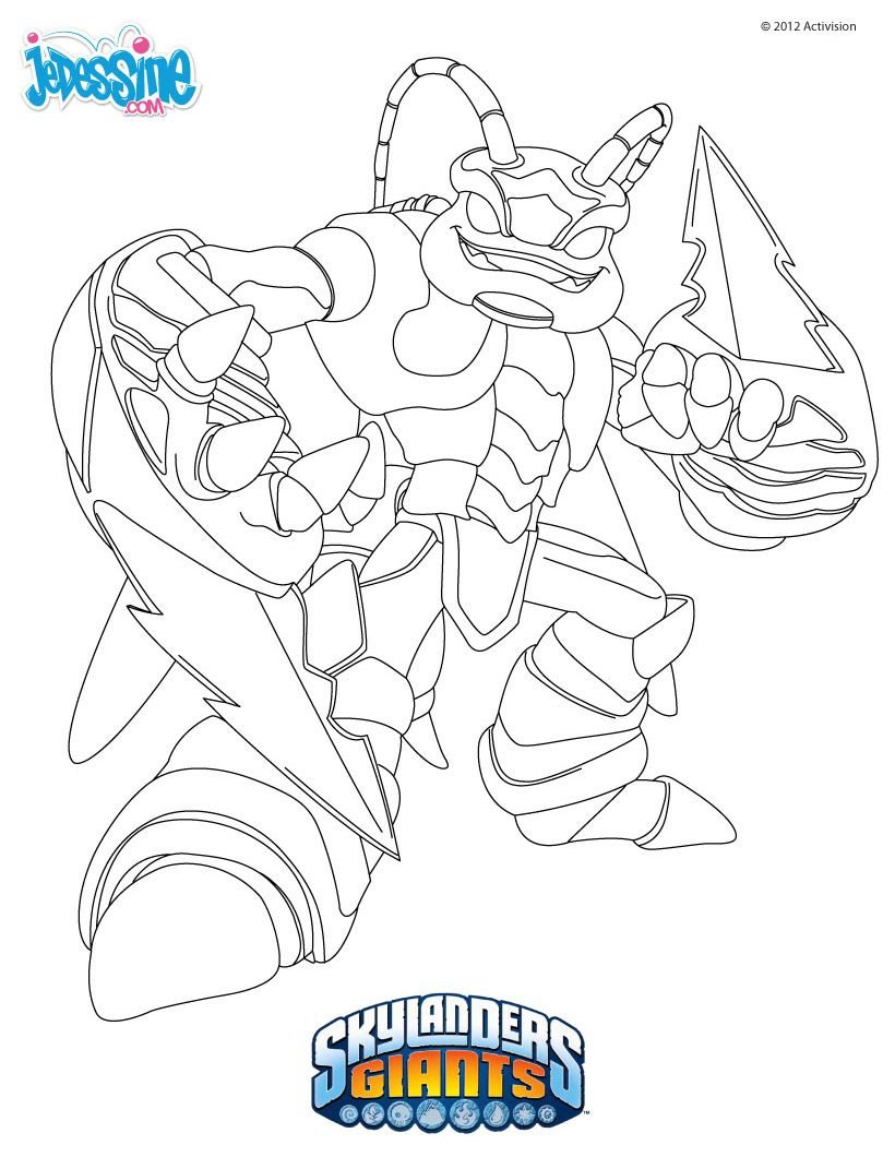 Skylanders Giants Coloring Pages | Coloring Pages serapportantà Dessin De Skylanders