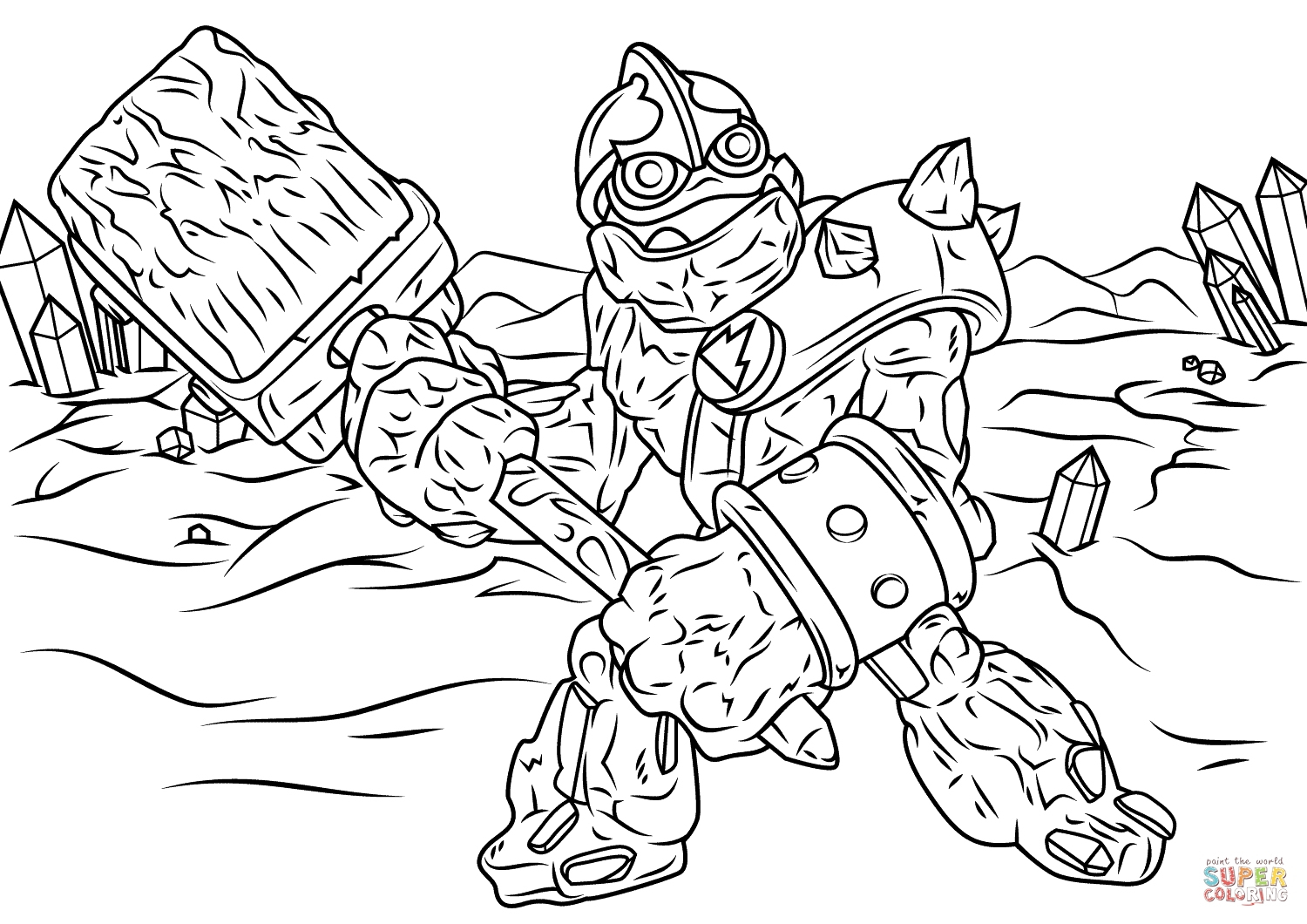 Skylanders Giants Tree Rex Coloring Pages Coloriage Dessin intérieur Dessin De Skylanders