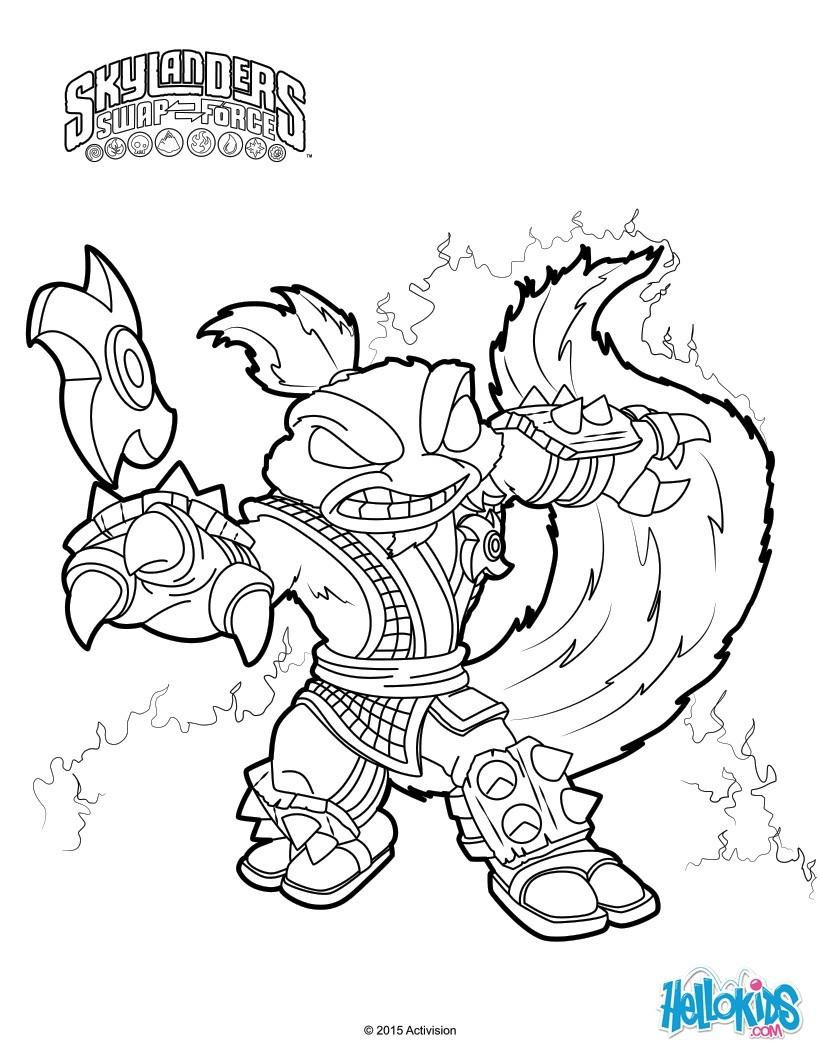 Skylanders Trap Team Coloring Pages - 52 Free Online encequiconcerne Dessin De Skylanders