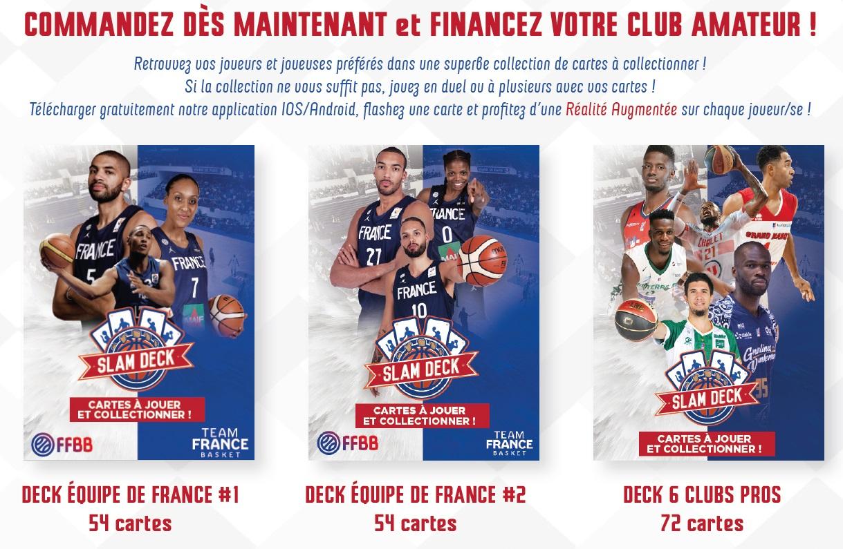 Slam Deck, Le Nouveau Jeu De Cartes Dédié Au Basket Français concernant Jeu Carte De France