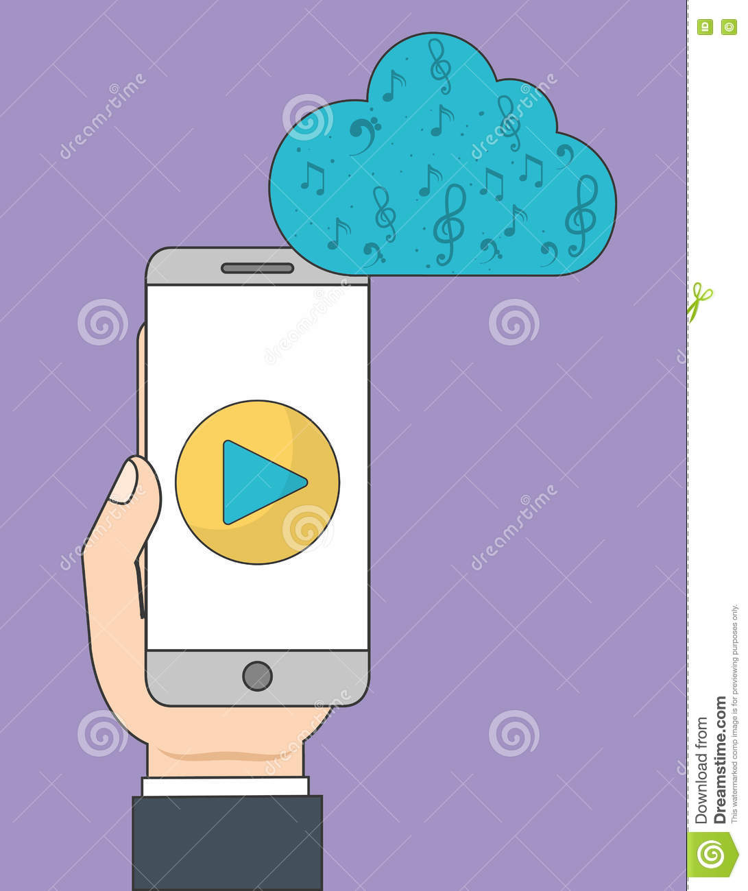 Smartphone Et Icône De Jeu Musique En Ligne Et Technologie dedans Jeux De Musique En Ligne