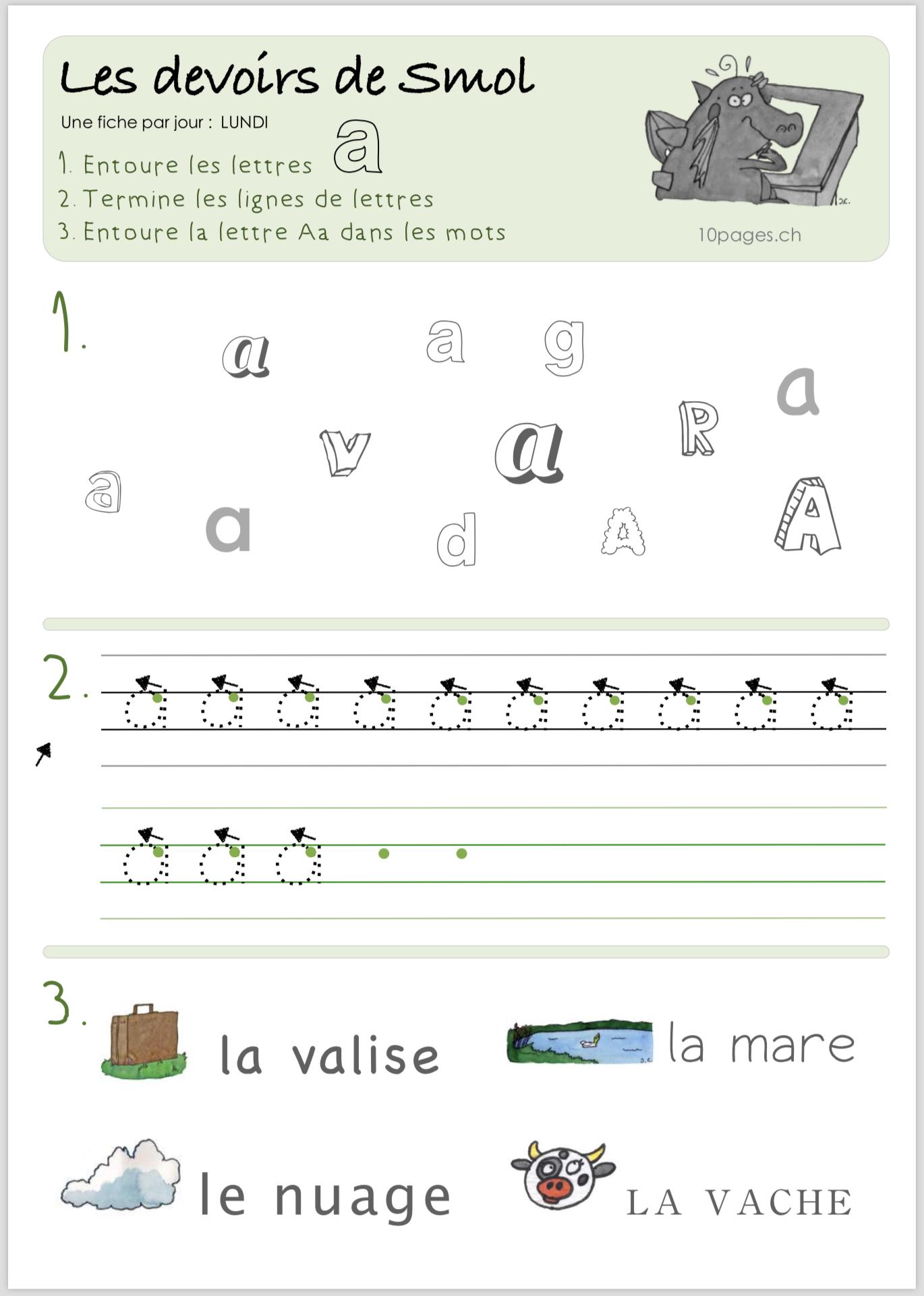 Smol Et Luciole – Fiches Pédagogiques - Collection 10Pages serapportantà Apprendre A Ecrire Gratuit