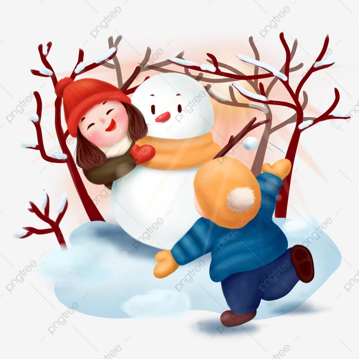 Snowball Hiver Jeux Pour Enfants Jouent Aux Illustrations destiné Jeux D Enfans Gratuit
