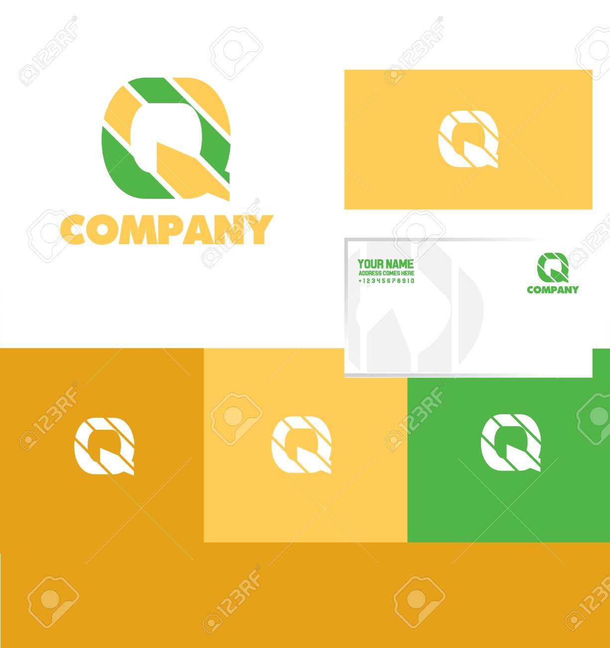Société Logo Icône Élément Modèle Lettre Alphabet Q Résumé destiné Modele Lettre Alphabet