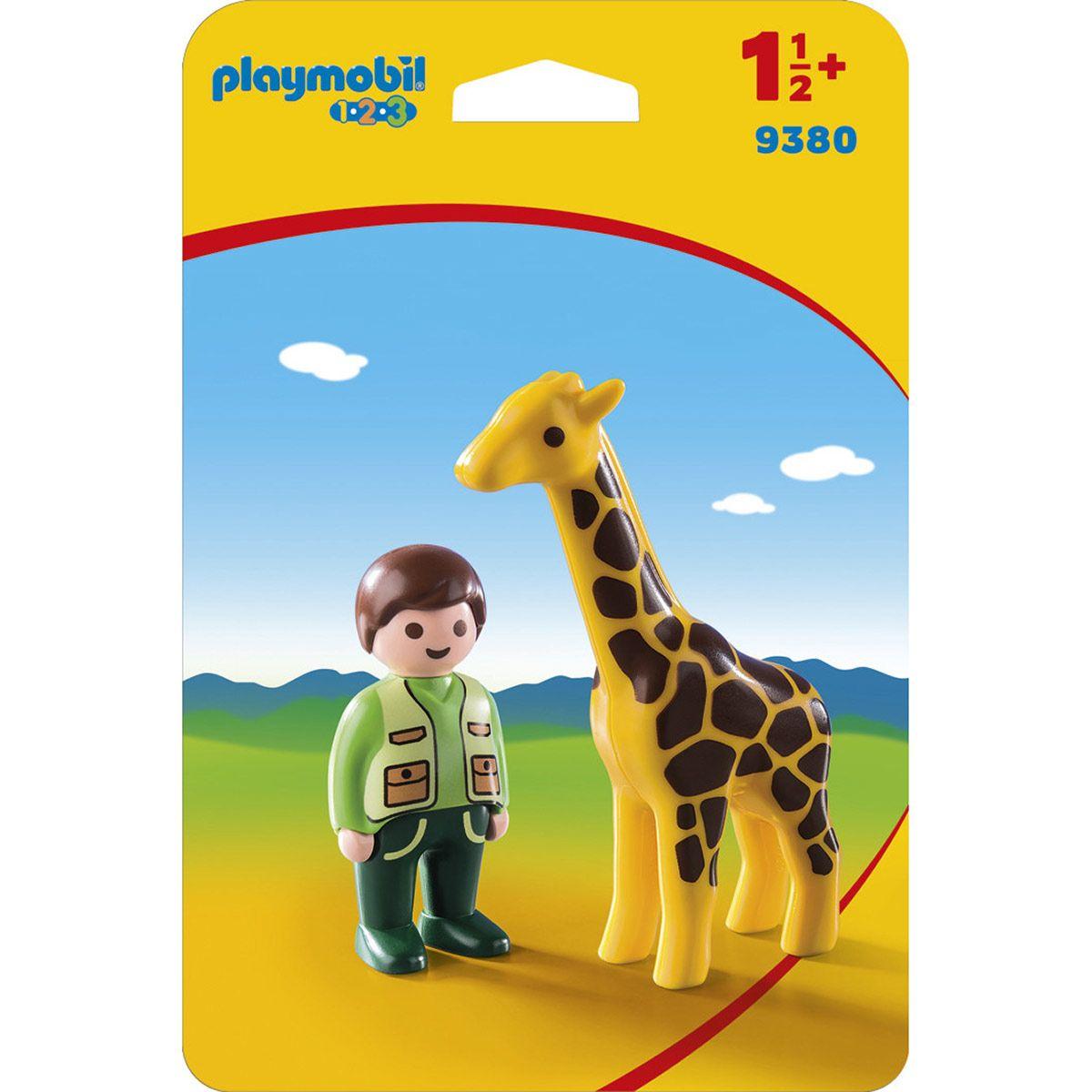 Soigneur Avec Girafe Playmobil 123 9380 - Véhicules Et intérieur Jeux De Girafe Gratuit