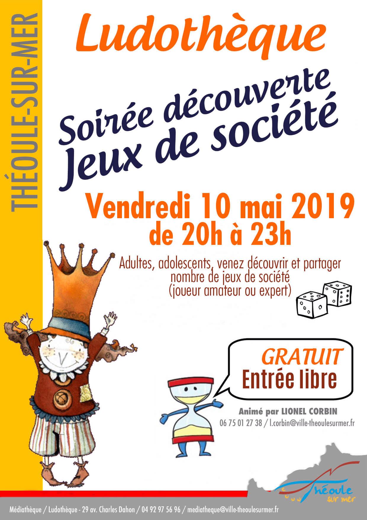 Soirée Découverte Jeux De Société - Théoule-Sur-Mer tout Jeux Societe Gratuit