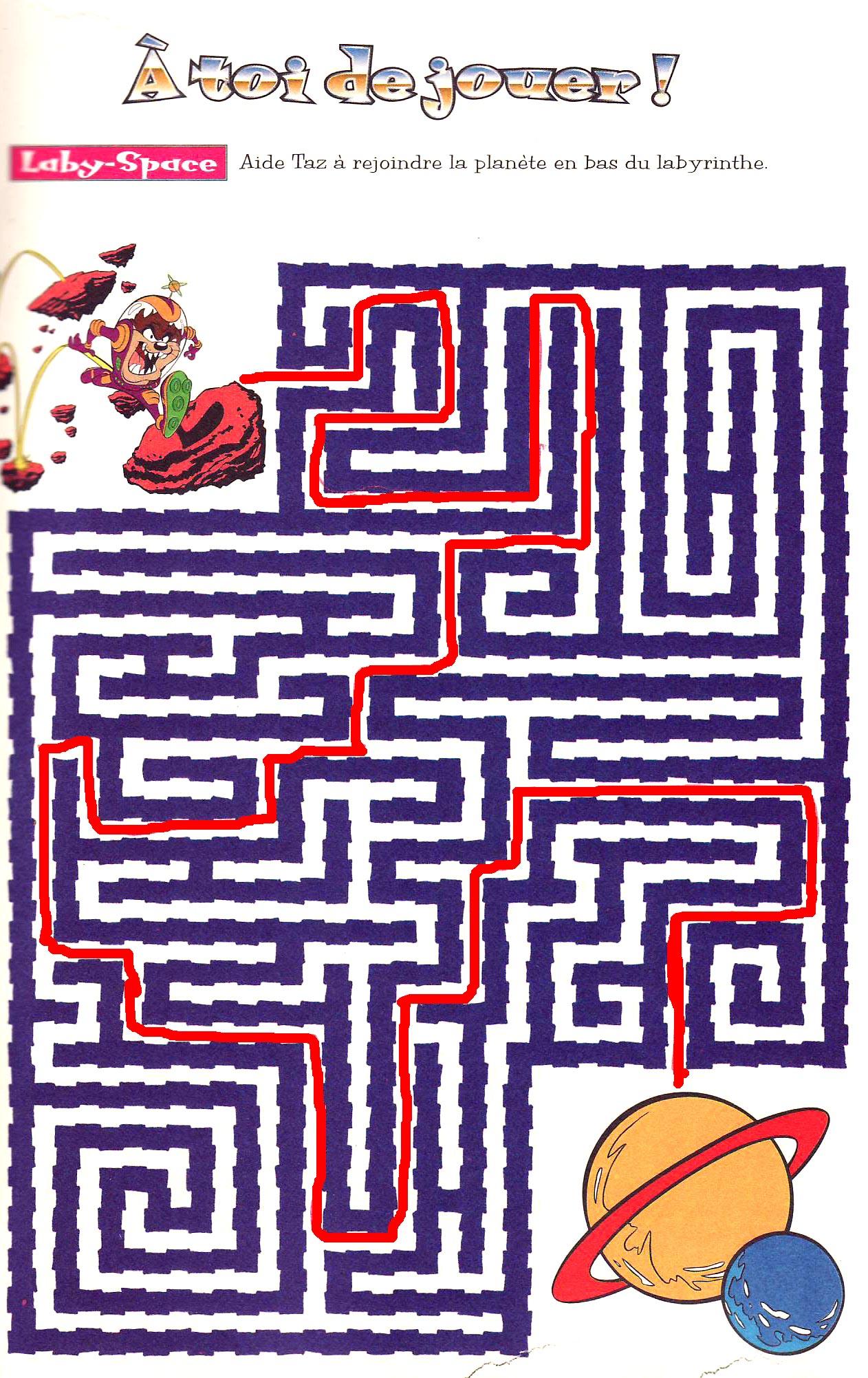 Solution Du Jeu Du Labyrinthe Récré Kids pour Labyrinthe A Imprimer