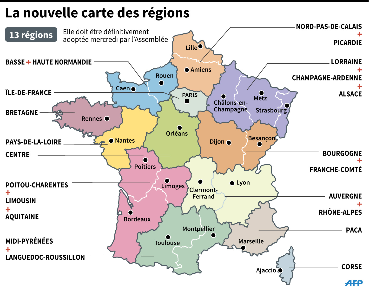 Sondage : Les Français Très Partagés Face Aux Nouvelles Régions tout Decoupage Region France