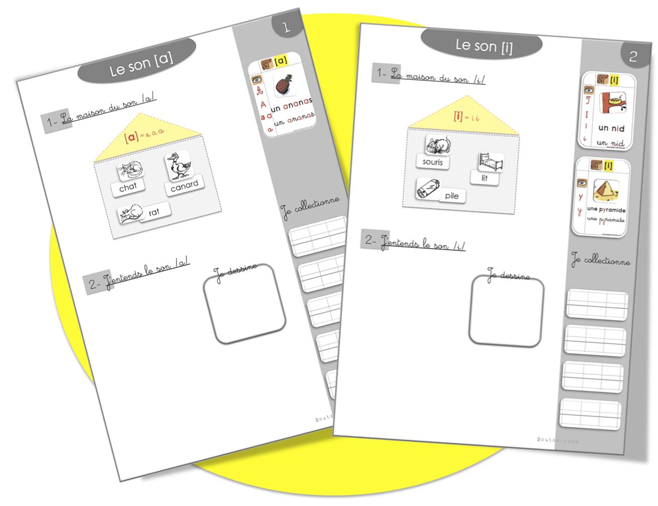 Sons Grande Section Et Cp | Bout De Gomme encequiconcerne Cahier De Vacances Moyenne Section A Imprimer