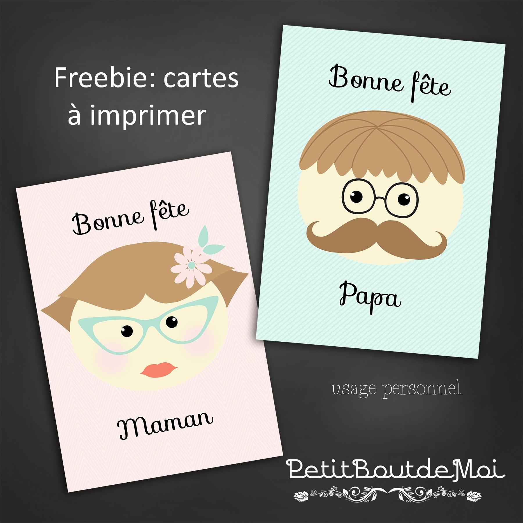 Souhaitez Une Bonne Fête Maman Et Papa . - Petit Bout 2 Moi concernant Carte Bonne Fete Maman Imprimer