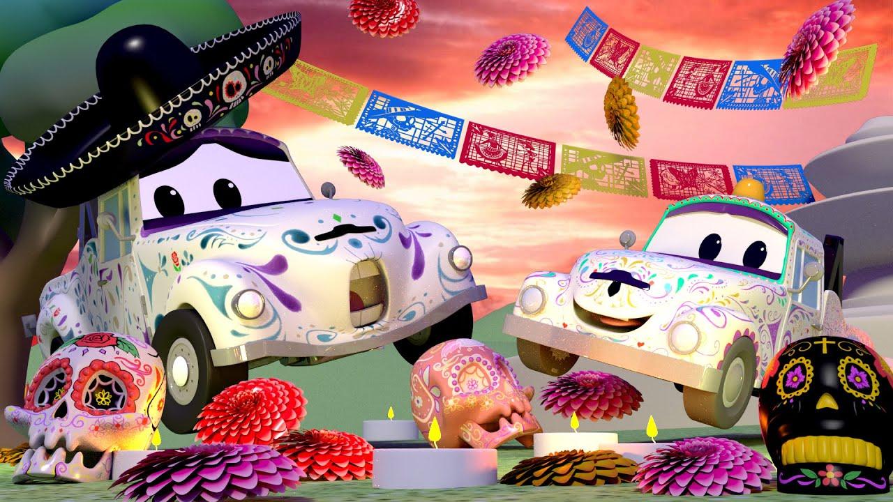 Spécial Disney Pixar Coco Jour Des Morts ! Tom La Dépanneuse avec Sam Le Tracteur Dessin Anime