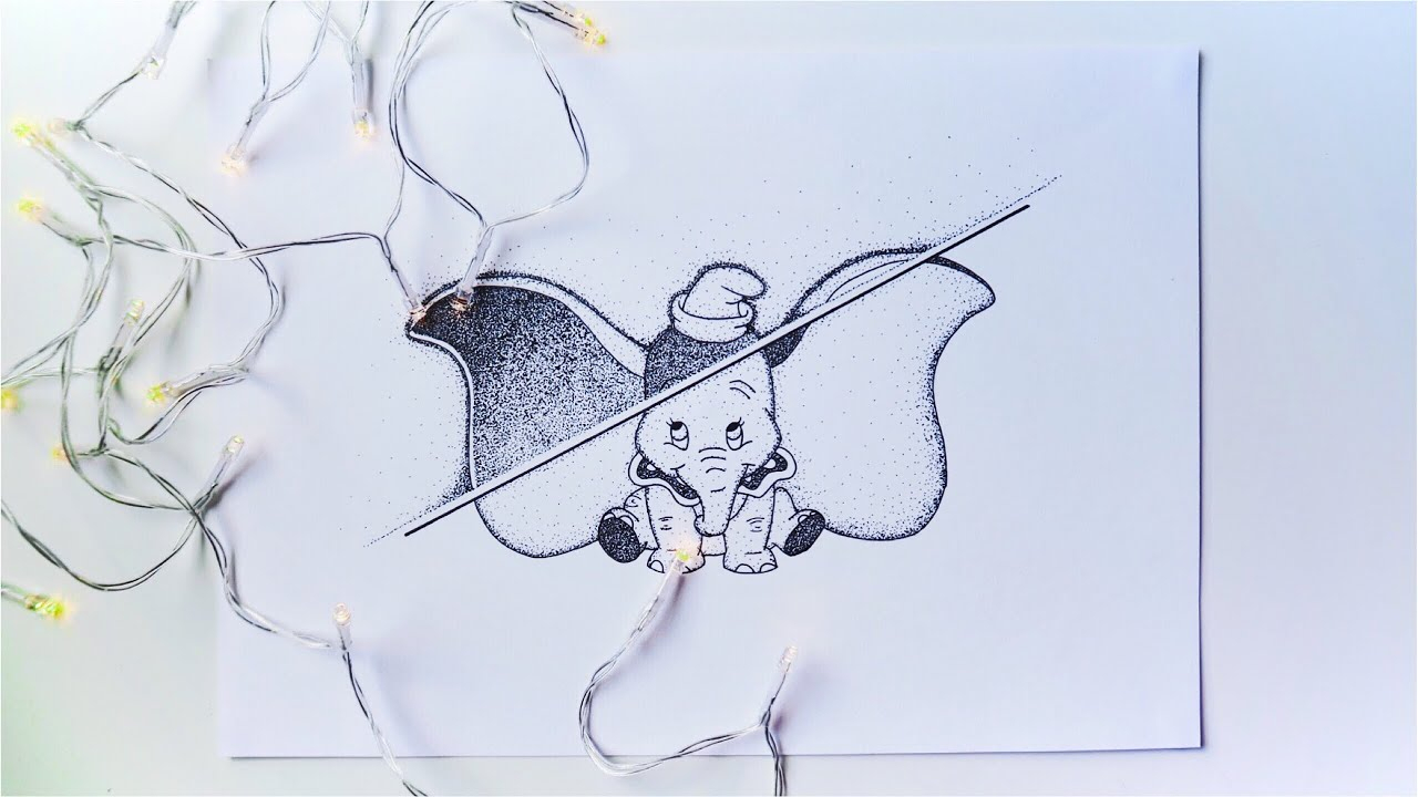 Speed Drawing #4 (Pointillism Dumbo) pour Dessin Dumbo