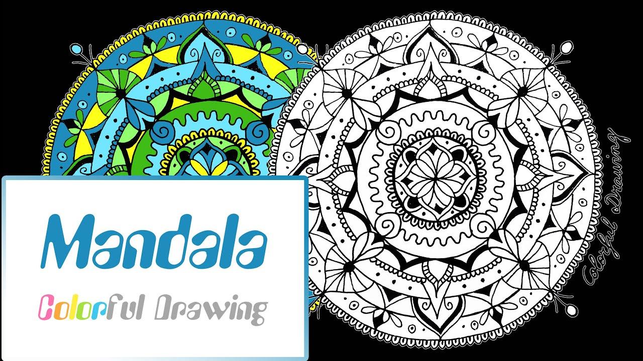 Speed Drawing - Dessiner Un Mandala N°1 ! intérieur Dessiner Un Mandala