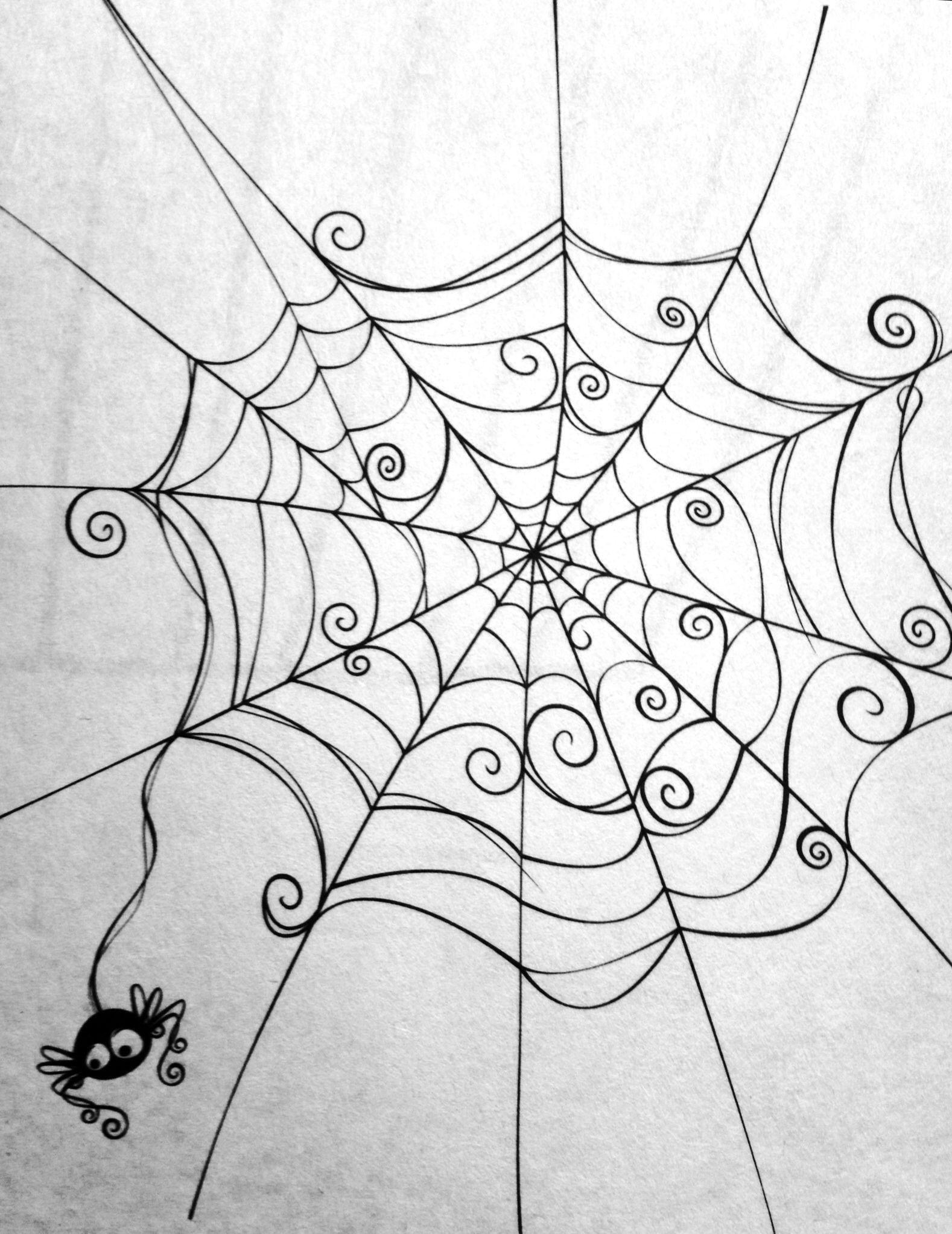 Spider Web. Cute Spider. | Toile D Araignée Dessin, Dessin avec Toile D Araignée Dessin