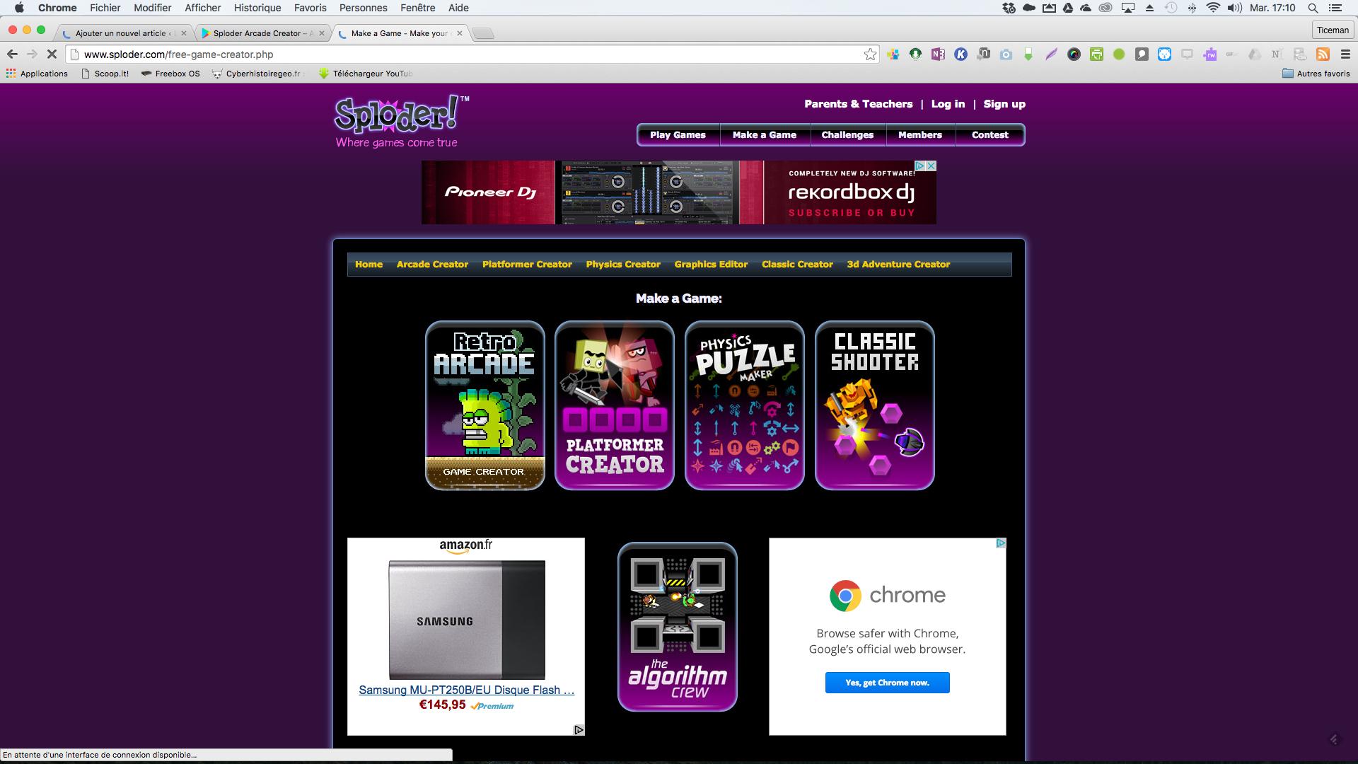 Sploder: Créer Des Jeux Vidéos En 2D En Ligne, Sur Android dedans Jeux A Deux En Ligne