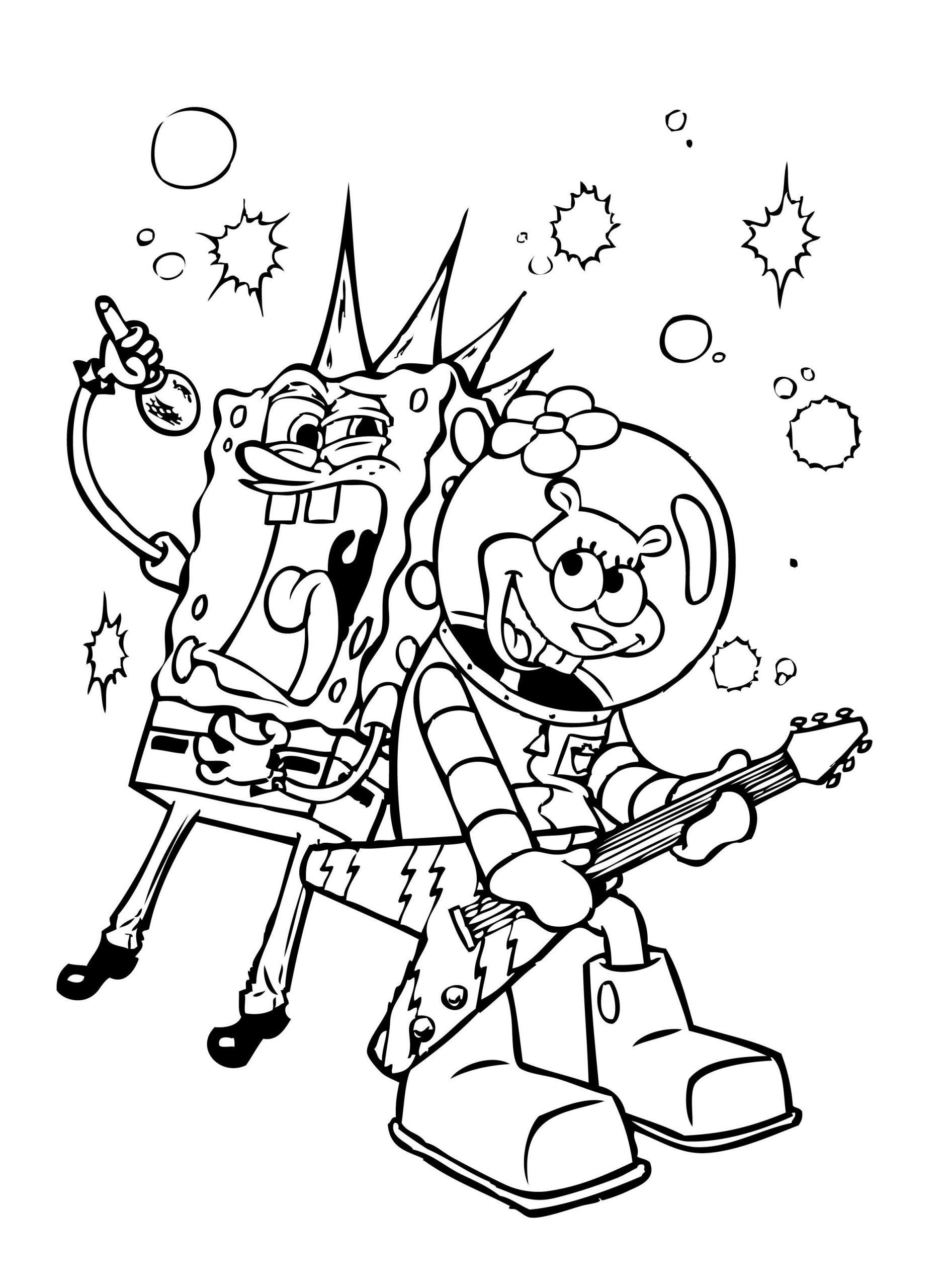 Spongebob Sing Coloring Pages Hd Wallpaper Spongebob concernant Image Bob L Éponge A Imprimer